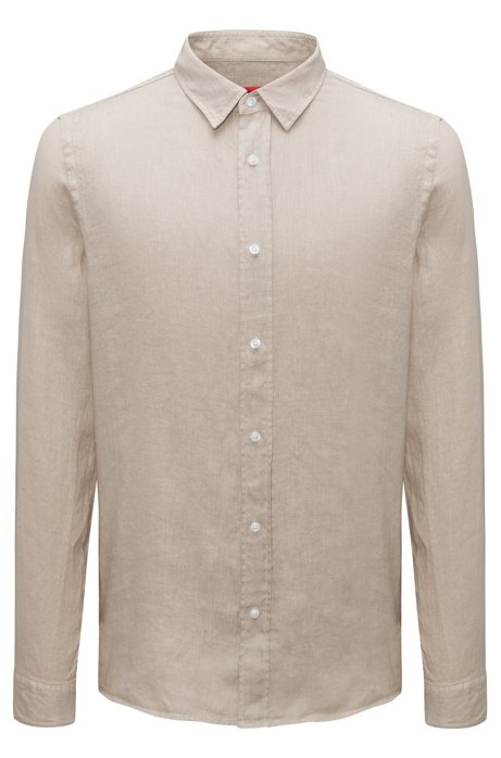 f267dd457c3 HUGO - Linen shirt in a relaxed fit