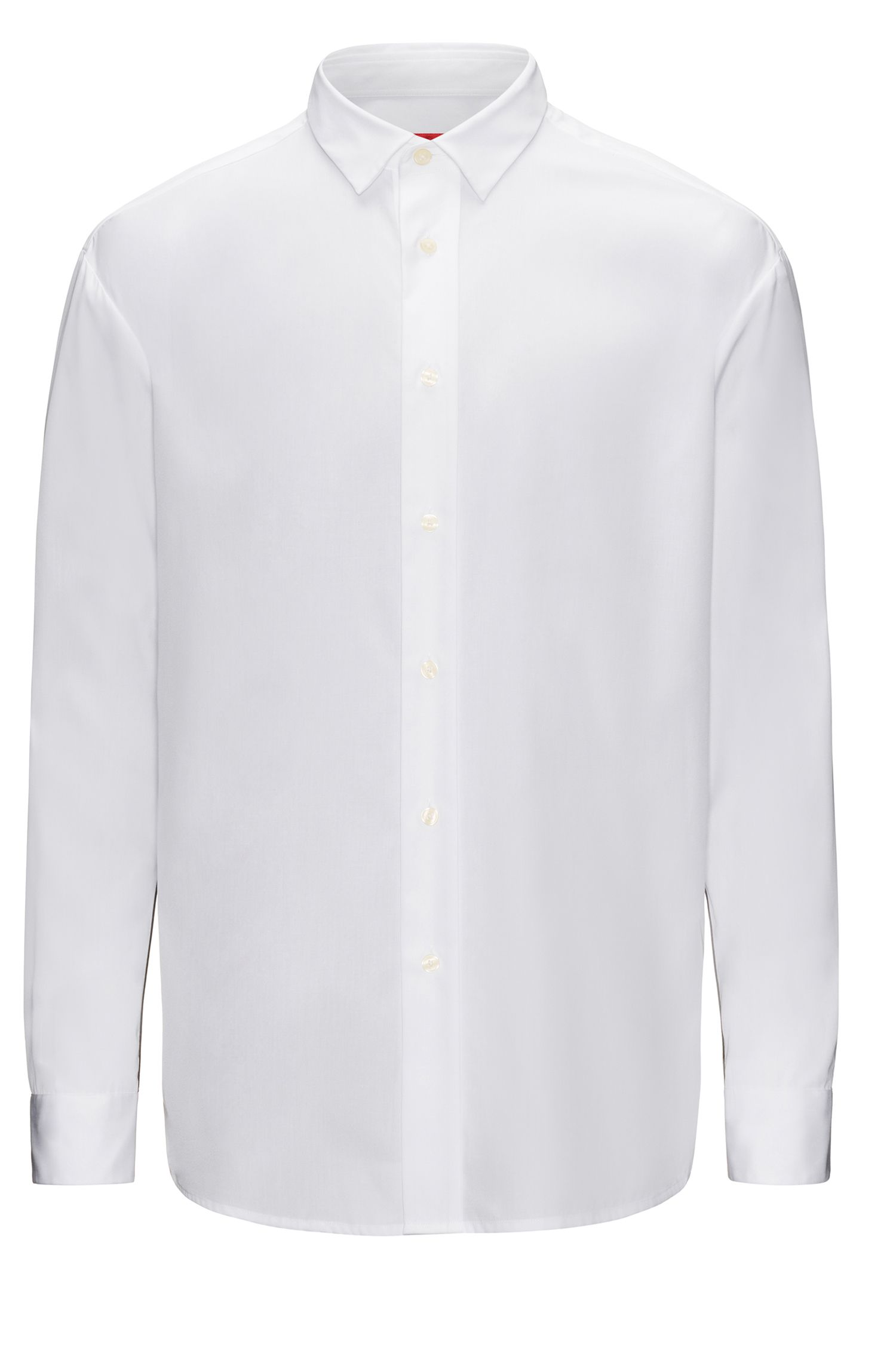 Relaxed-fit cotton shirt with contrast sleeve panels