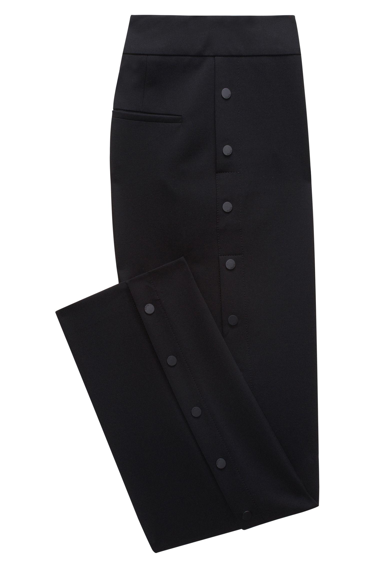 Relaxed-Fit Hose mit Druckknöpfen an der Seite