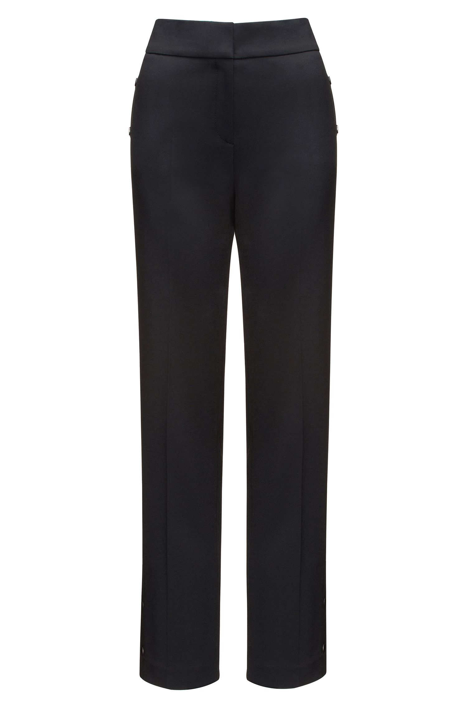 Relaxed-fit trousers with press-stud side seams