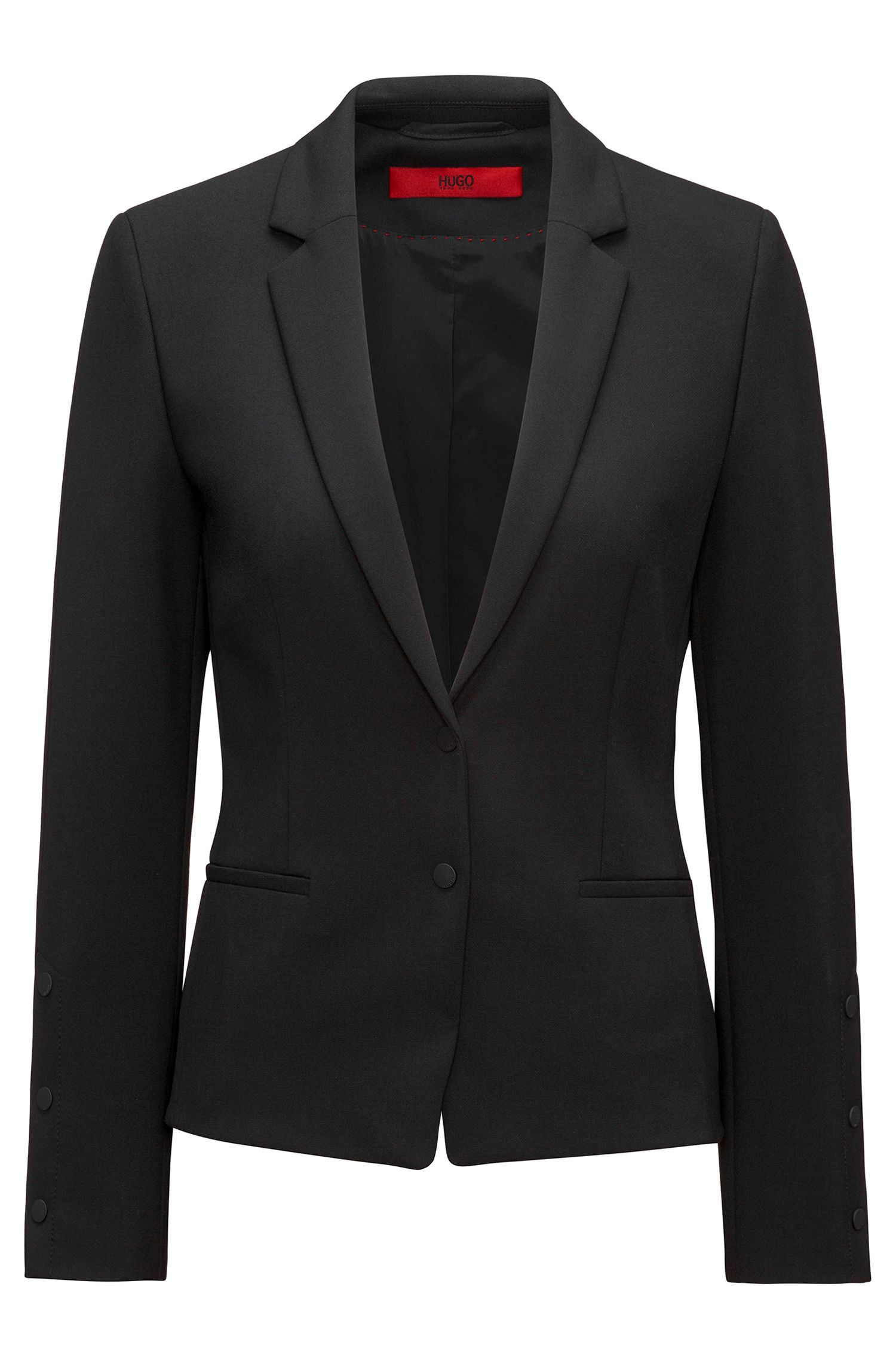 Regular-fit blazer met drukknoopdetails