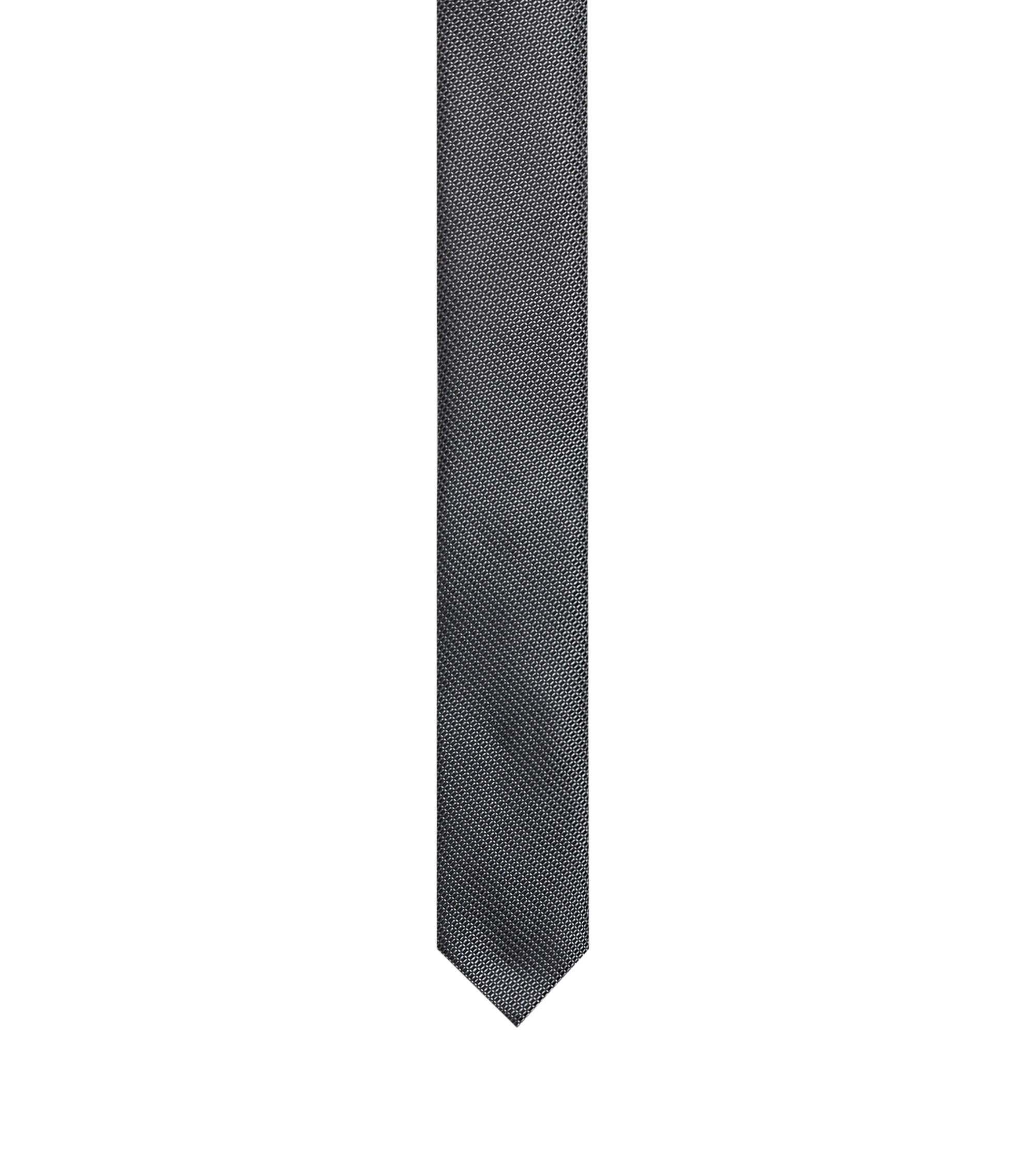 Silk micro-pattern tie, Black