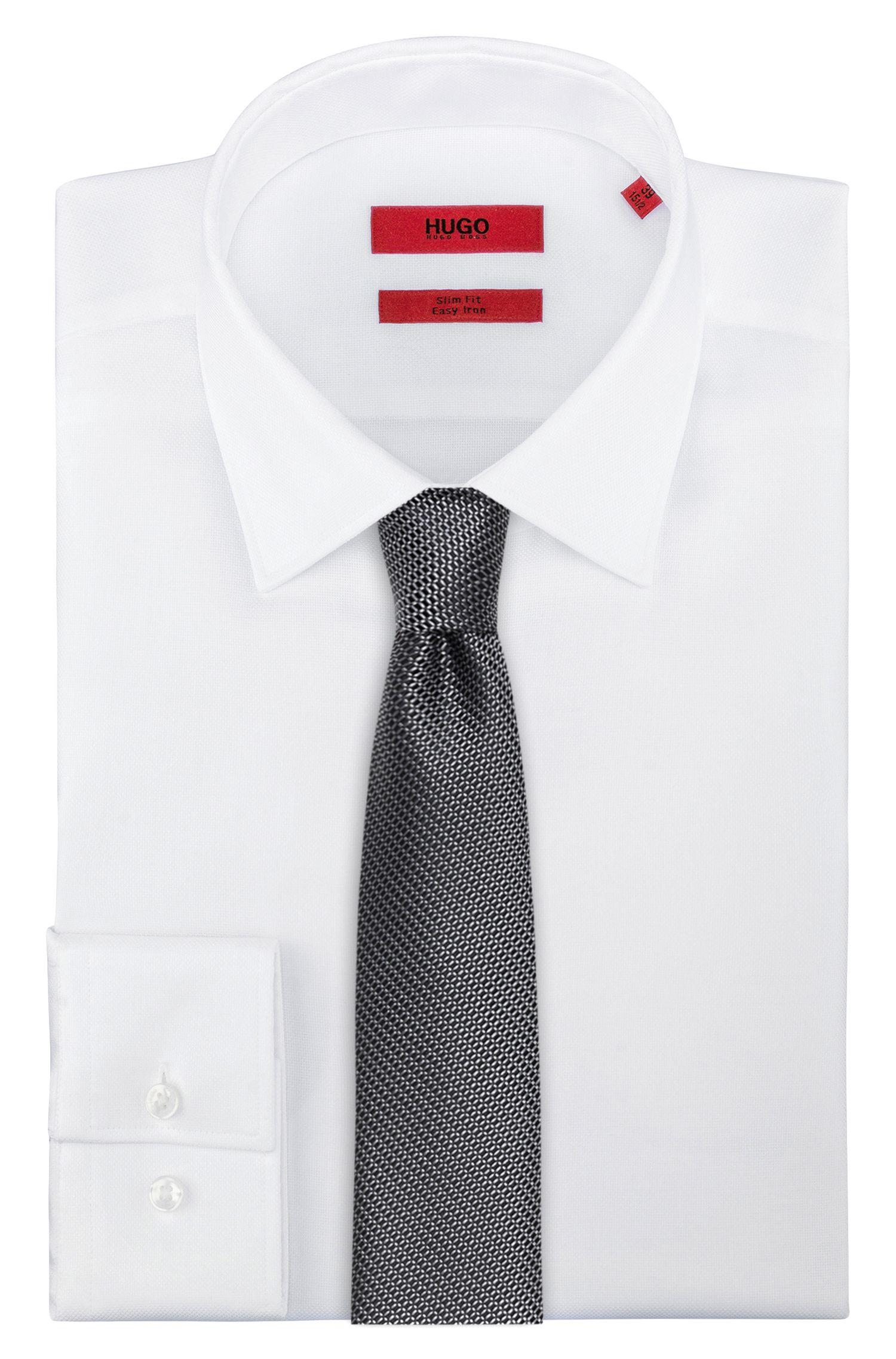Cravate en soie à micro-motif