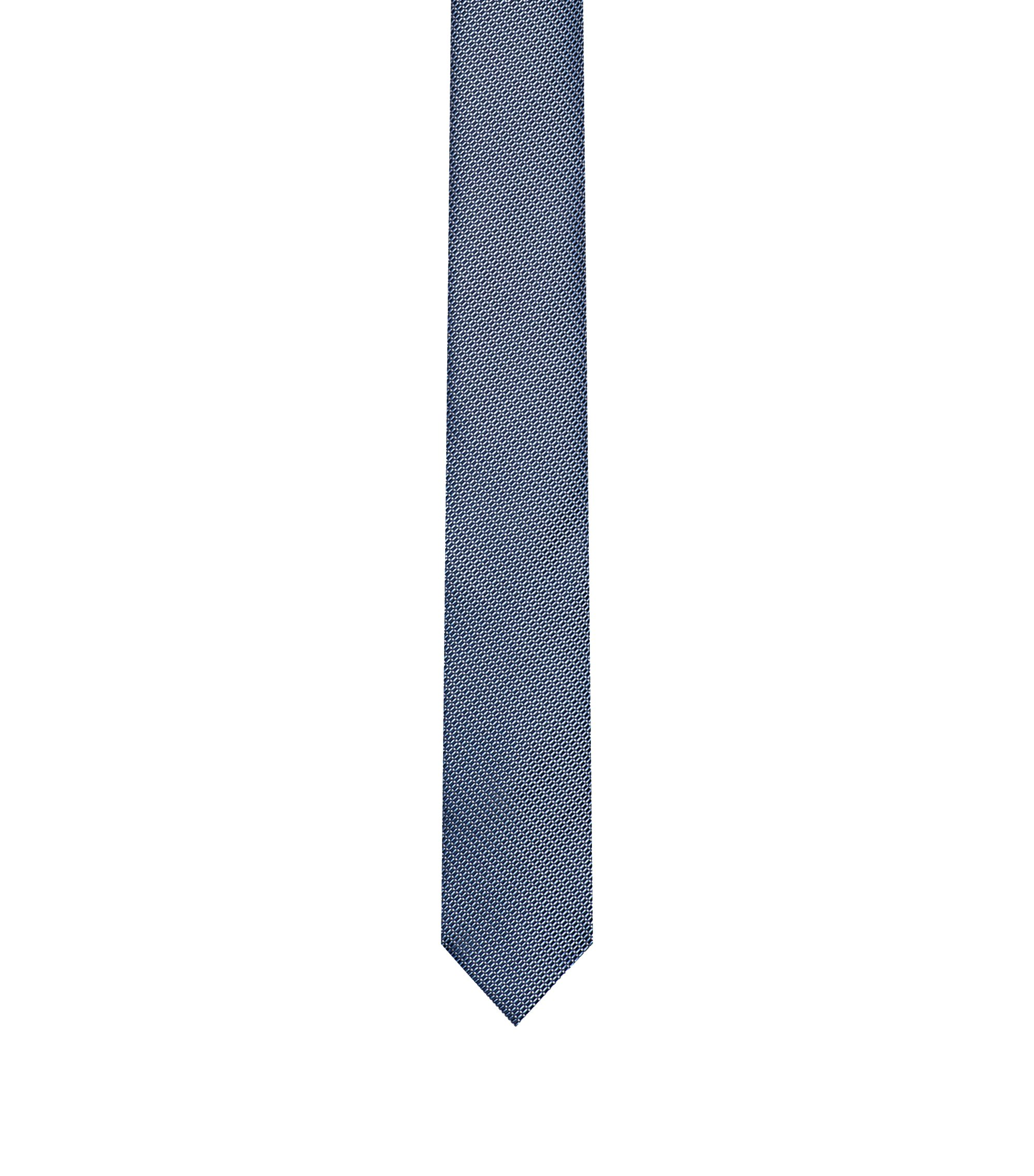 Silk micro-pattern tie, Dark Blue