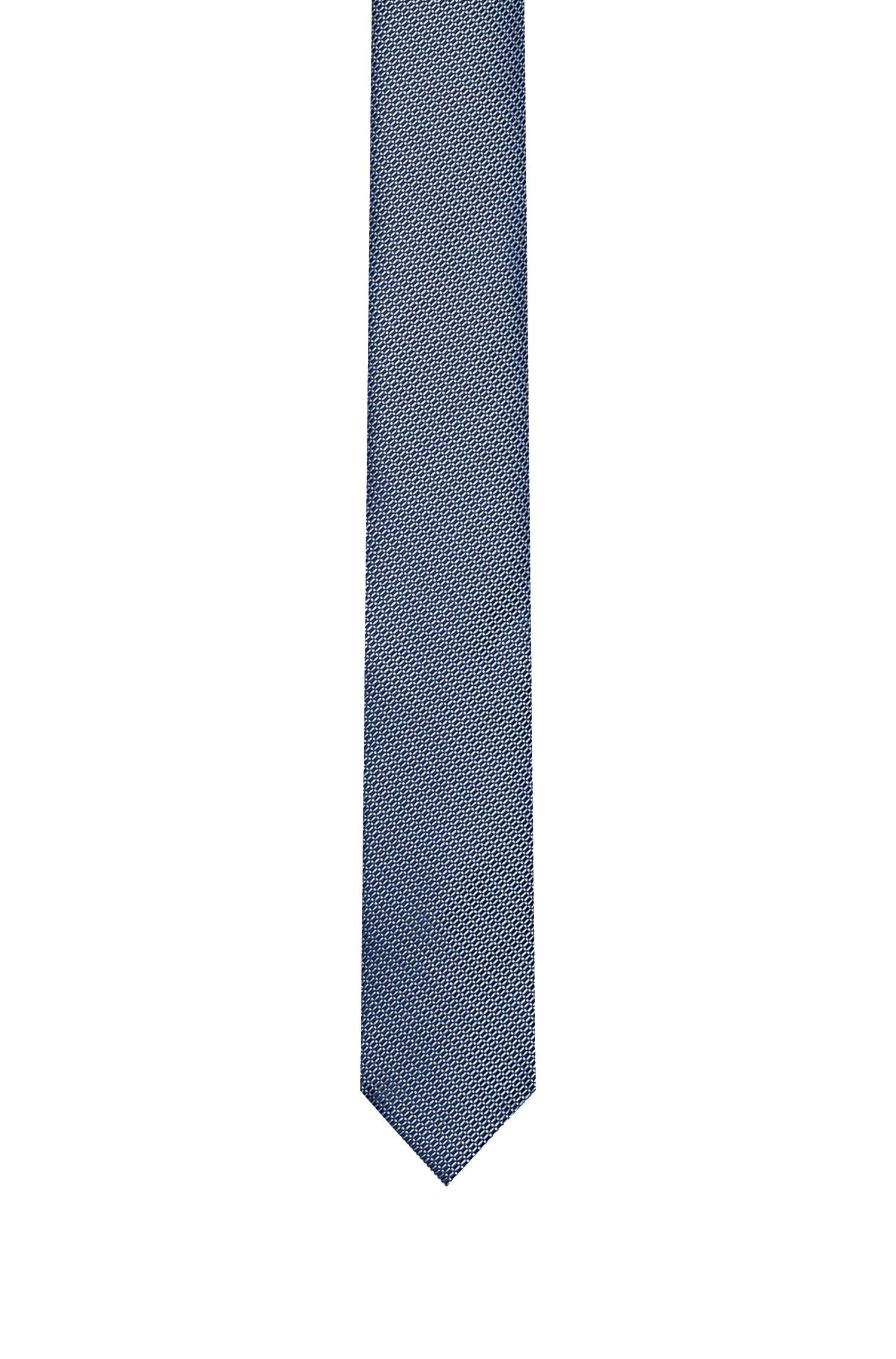 Fein gemusterte Krawatte aus Seide
