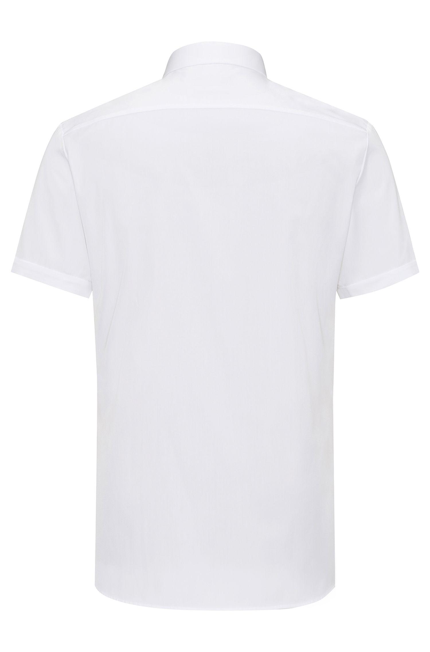 Extra slim-fit overhemd van zuivere katoen met korte mouwen
