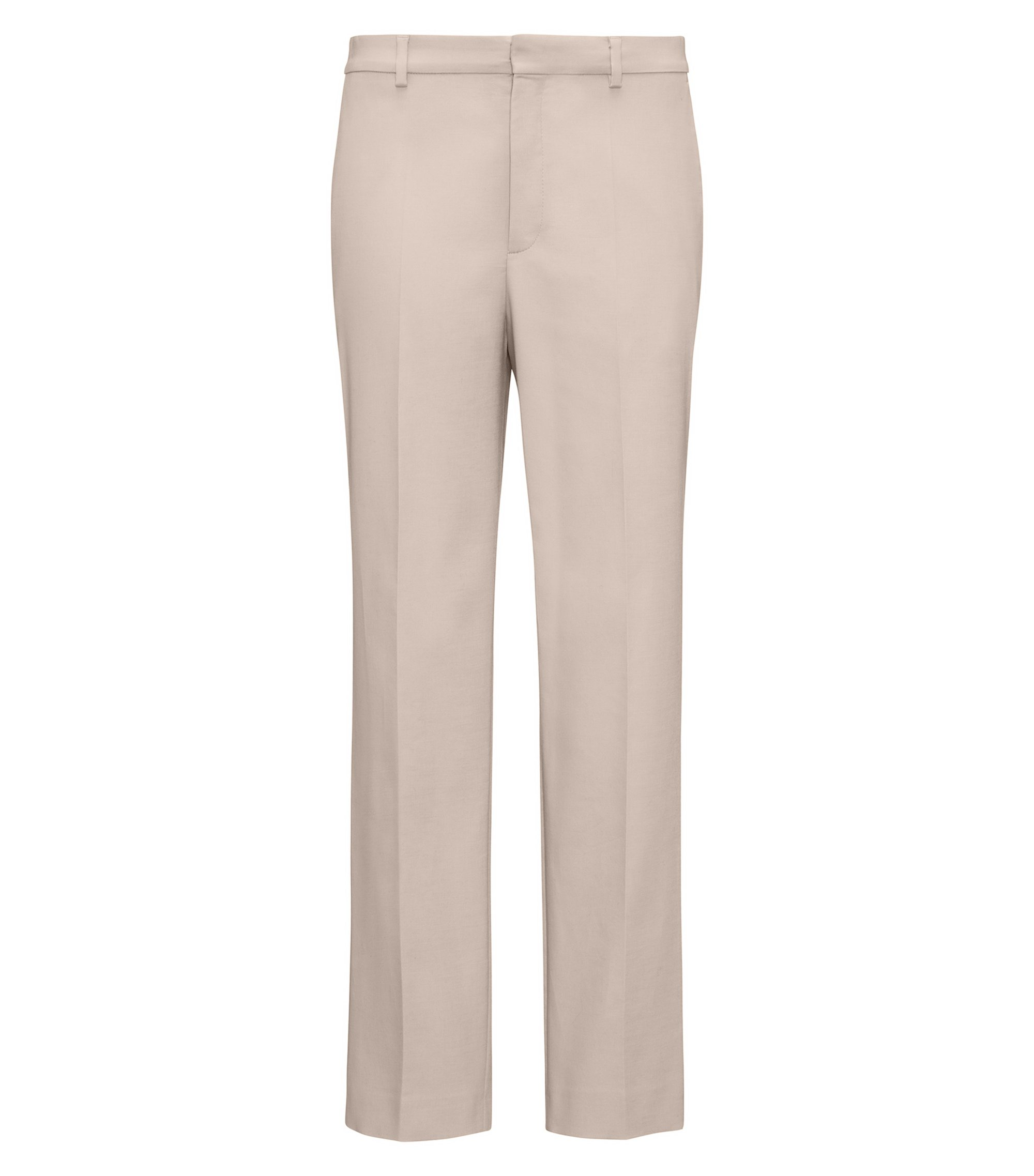 Boyfriend-fit chino van stretchkatoen, Beige