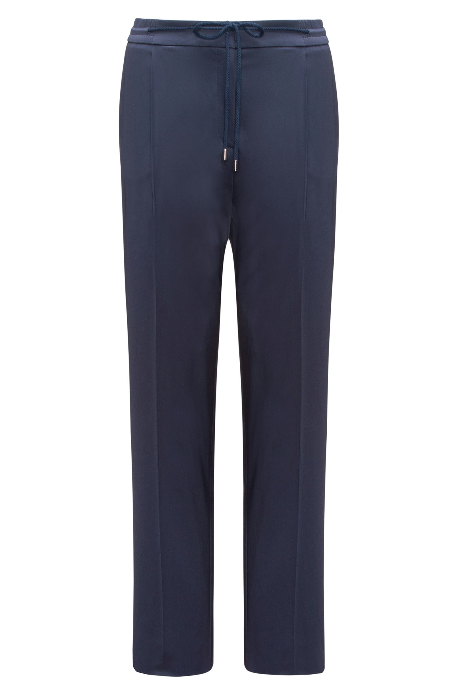 Pantalon Relaxed Fit habillé, en coton stretch