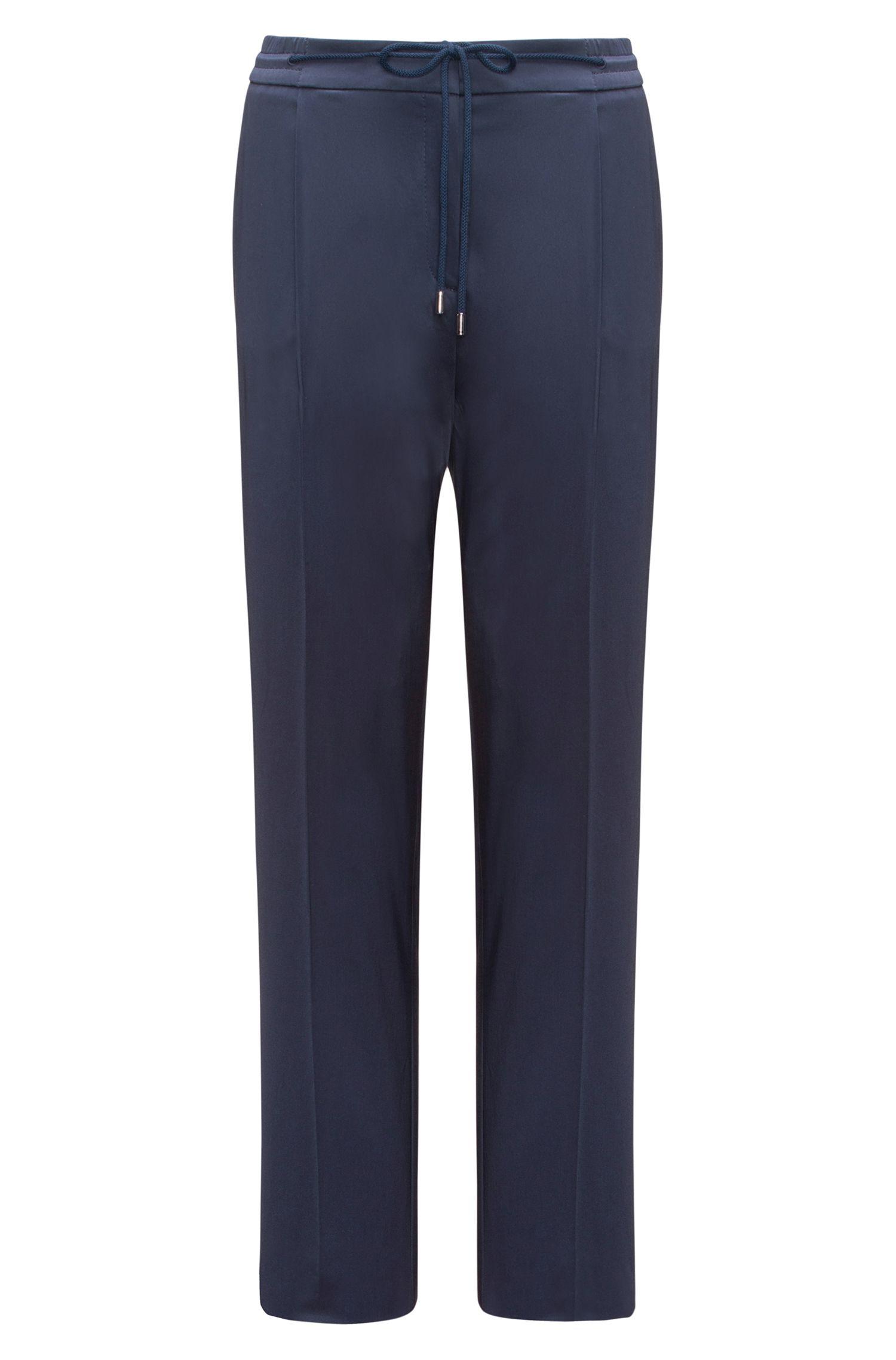 Pantalon Relaxed Fit habillé, en coton stretch
