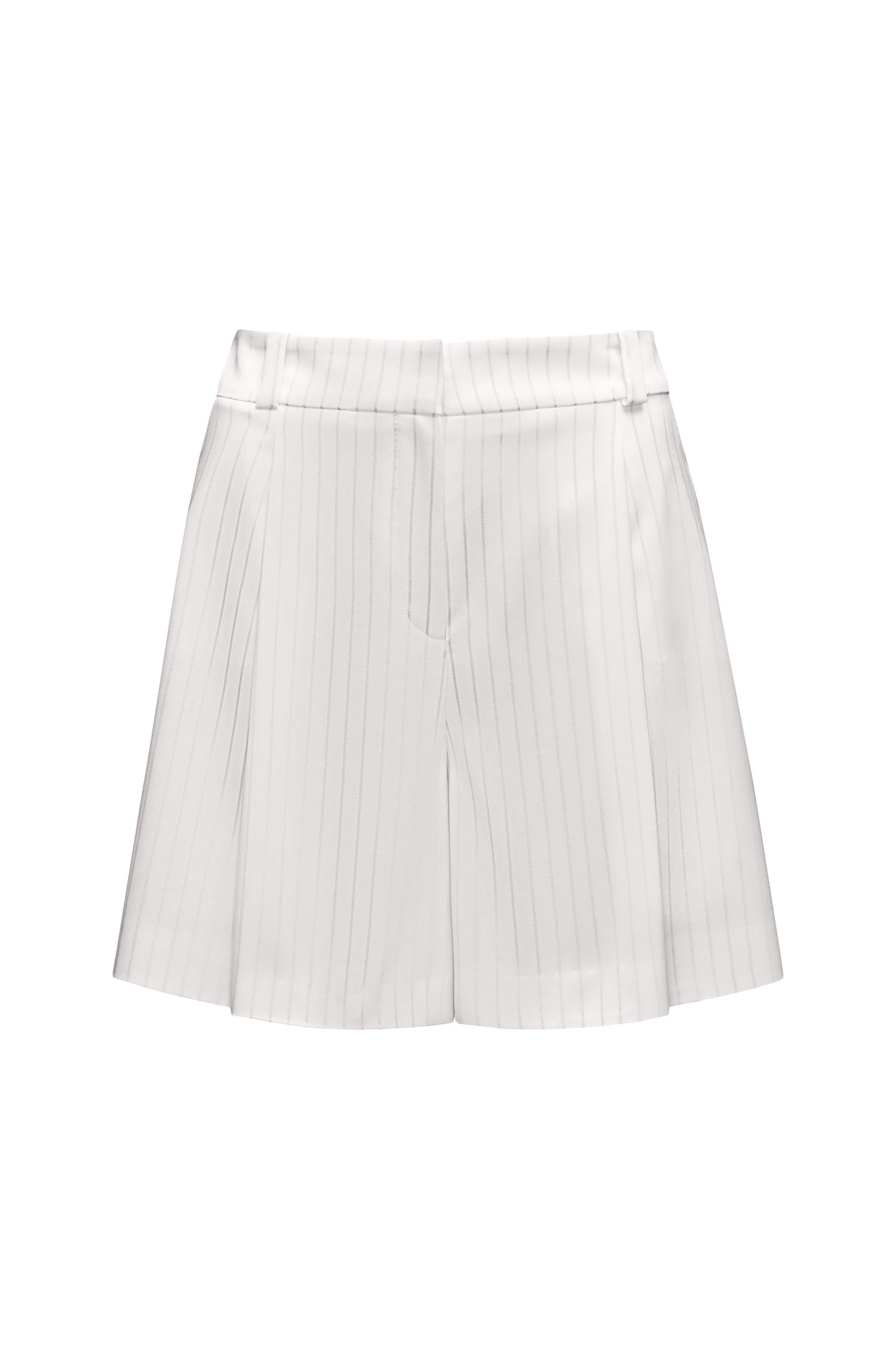 High-rise shorts with metallic stripe