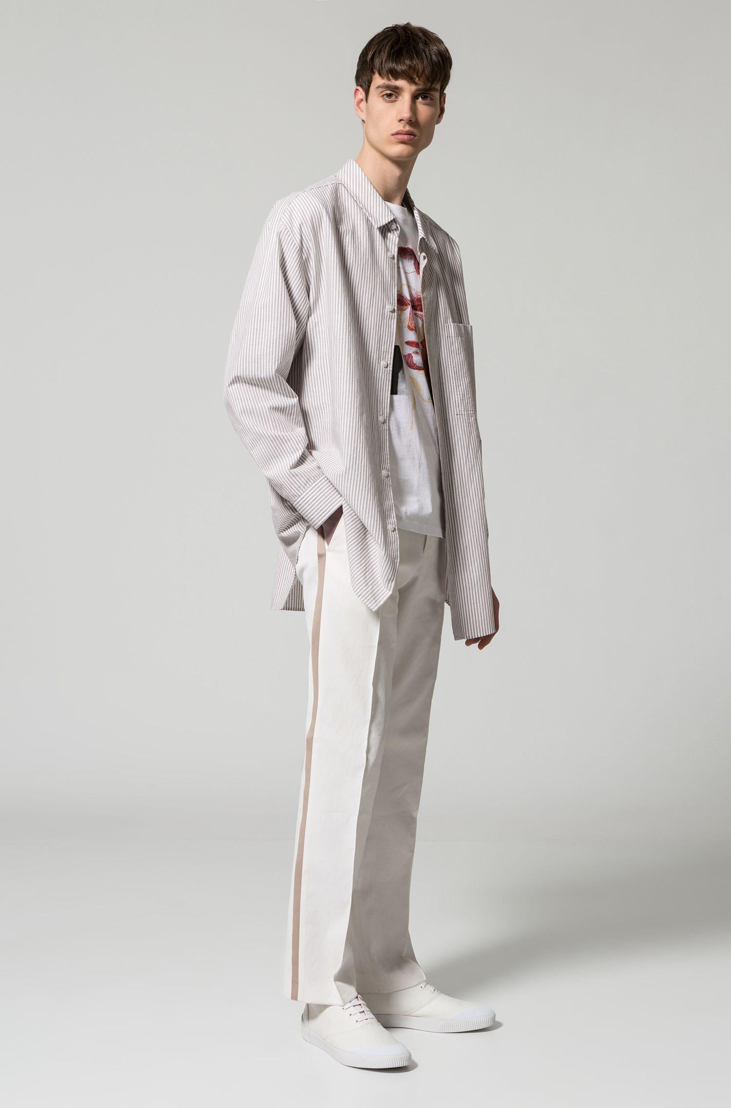 Oversized Hose aus reinem Leinen