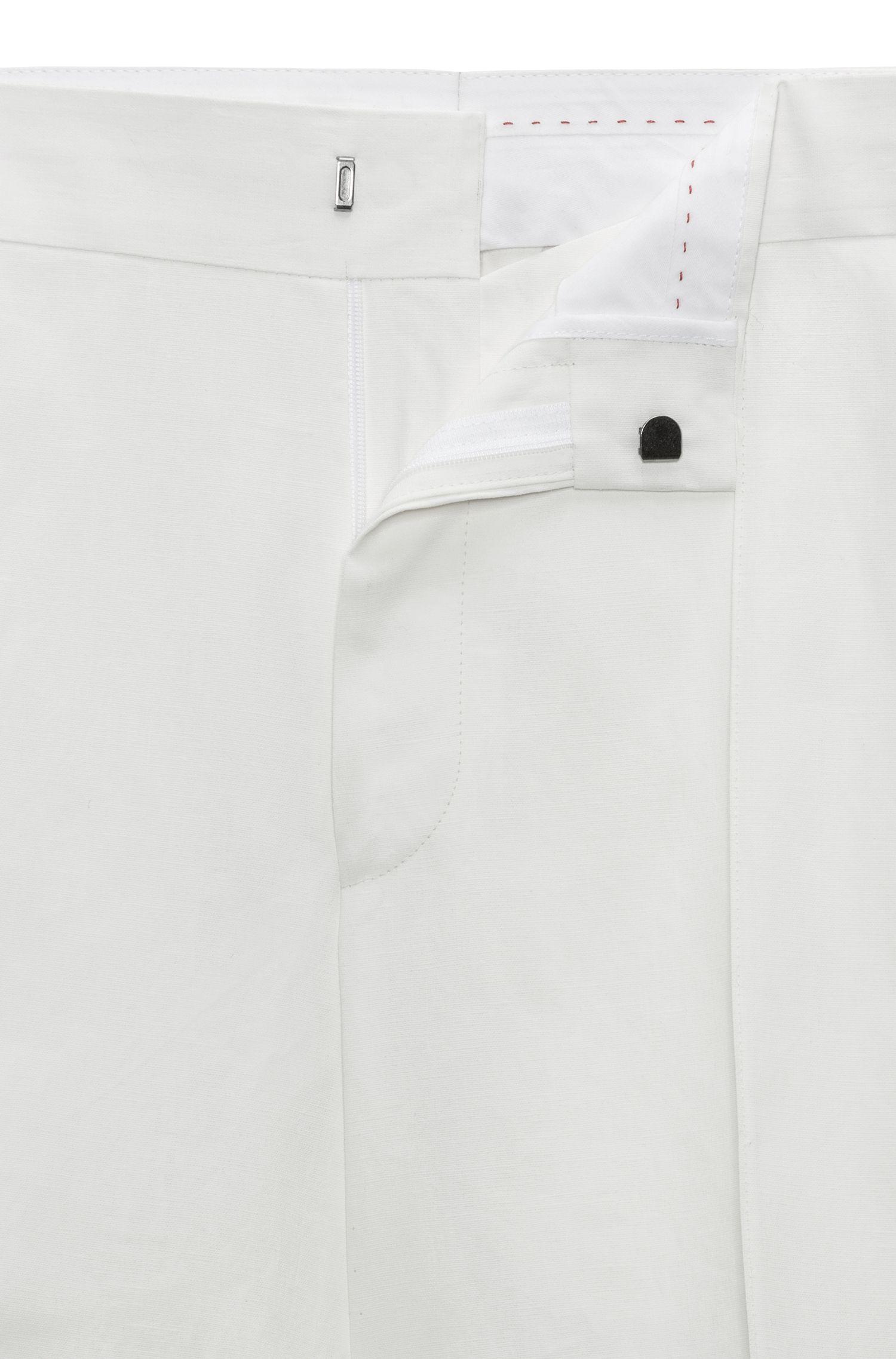Pantaloni dal taglio oversize in puro lino