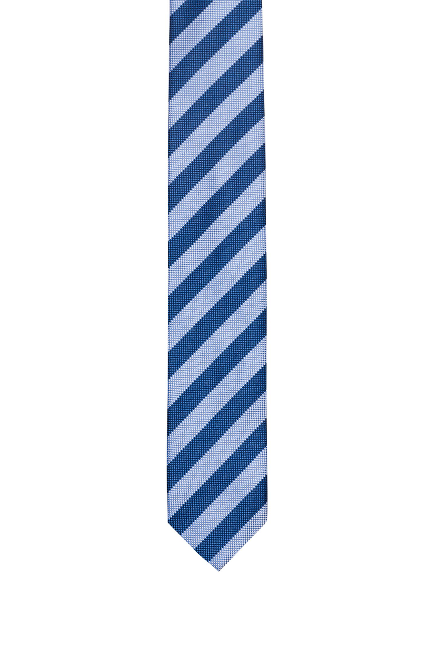 Silk jacquard tie with diagonal stripe