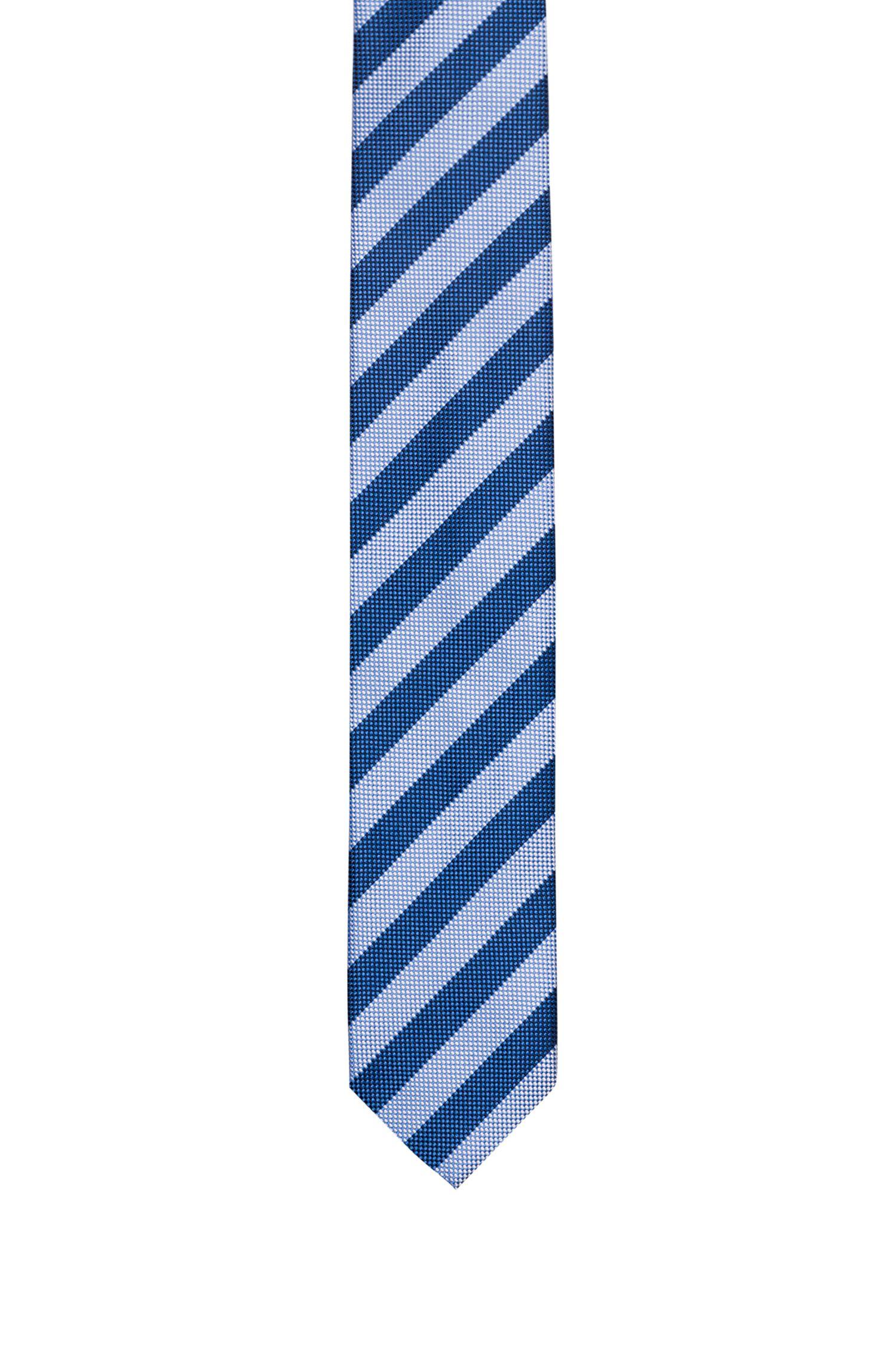 Stropdas in een jacquard van zijde met diagonale strepen