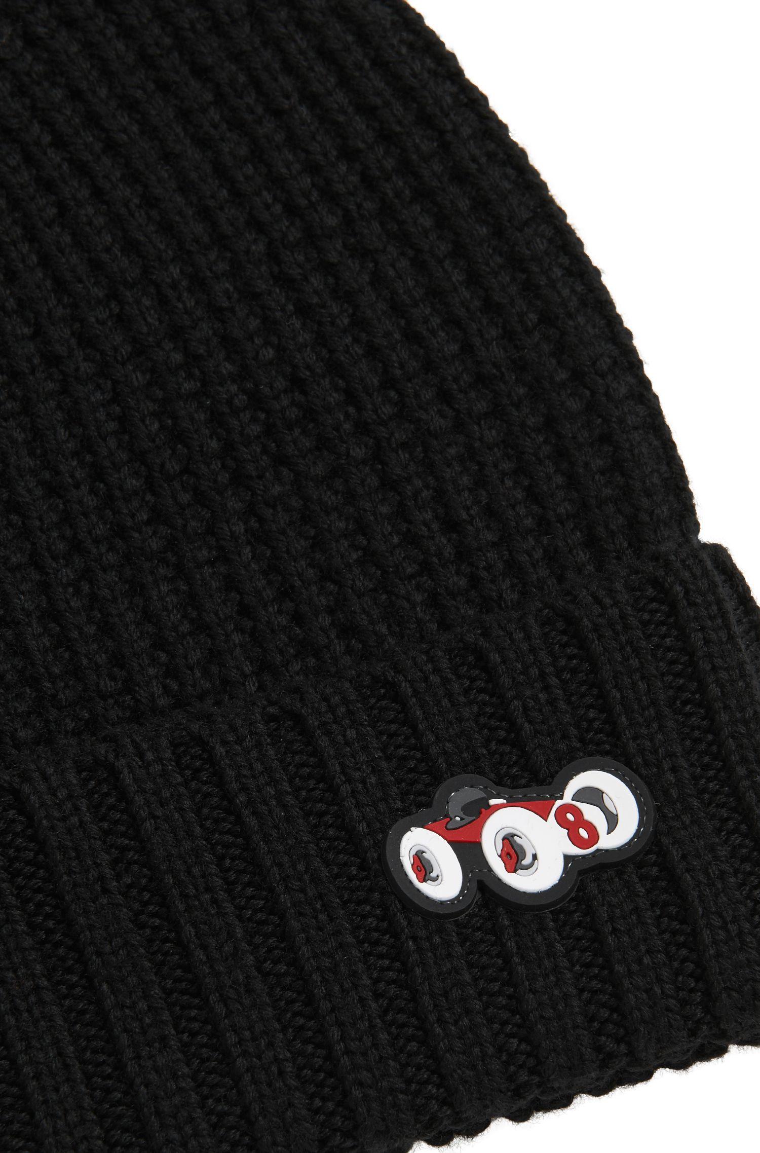 Bonnet en laine lourde à ornement voiture de course