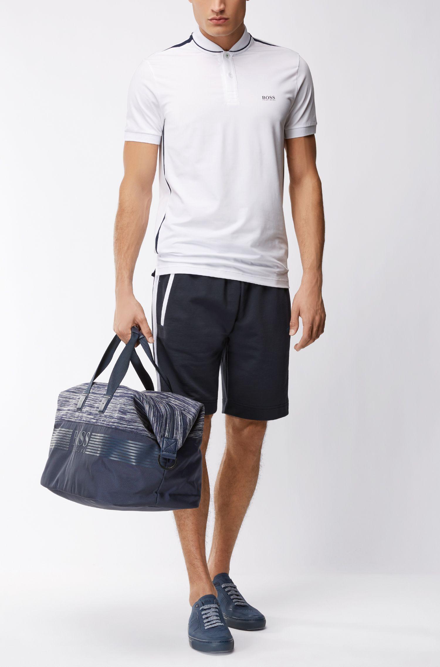 Pantaloncini della tuta in cotone con pannelli in rete