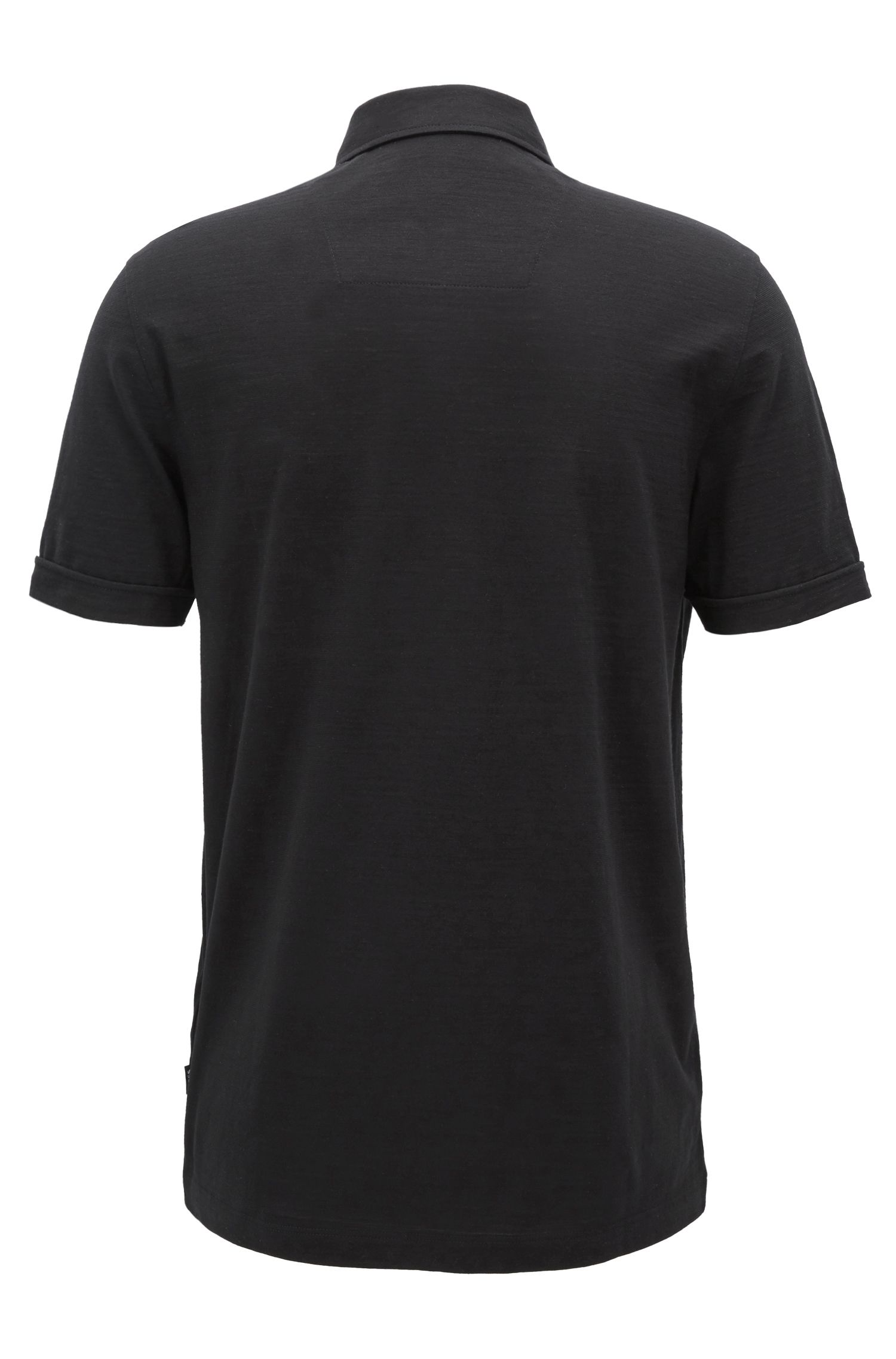 Polo met korte mouwen van gemerceriseerde single jersey