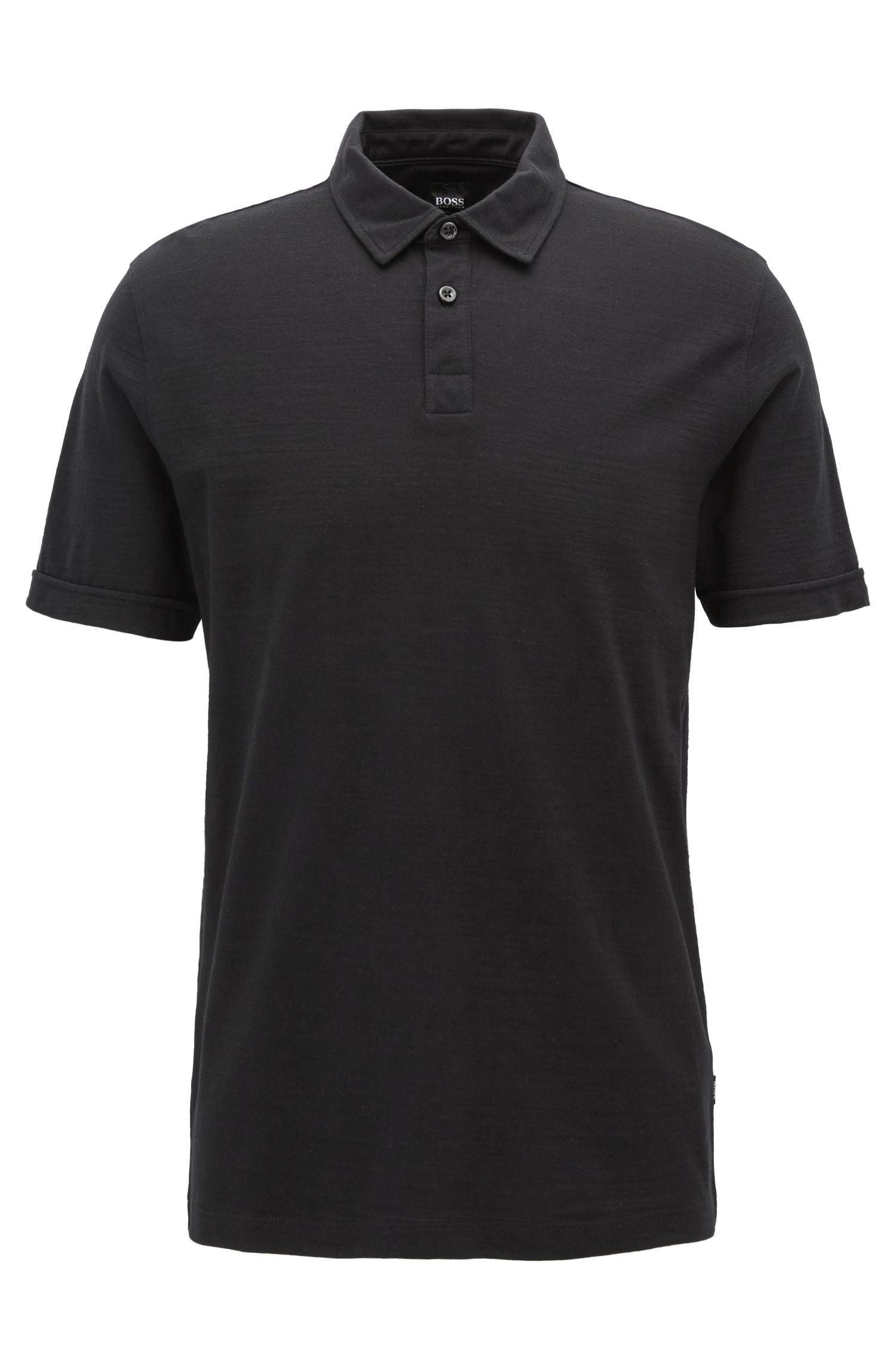 Poloshirt aus merzerisiertem Single Jersey