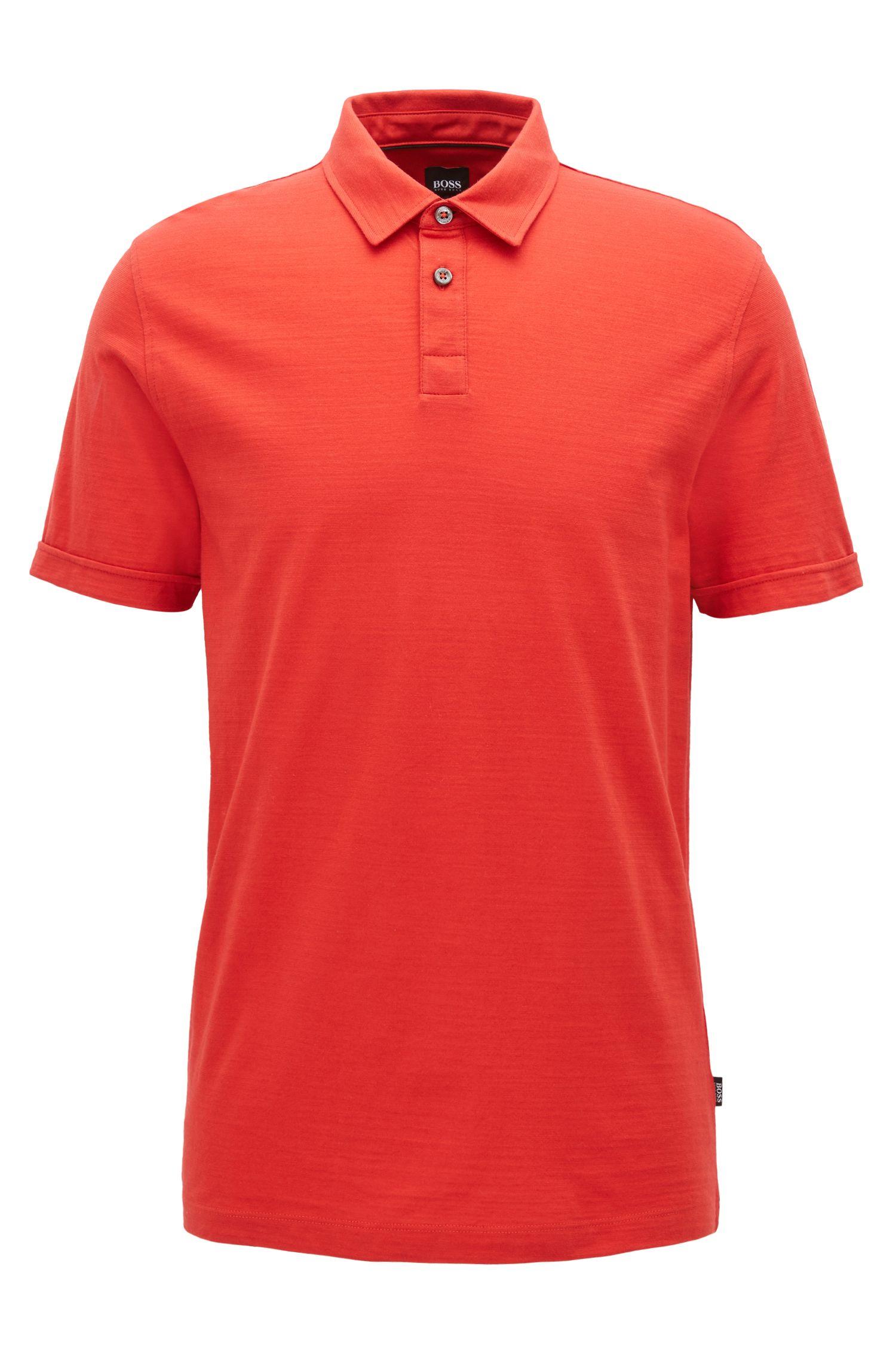 Polo à manches courtes en jersey simple mercerisé