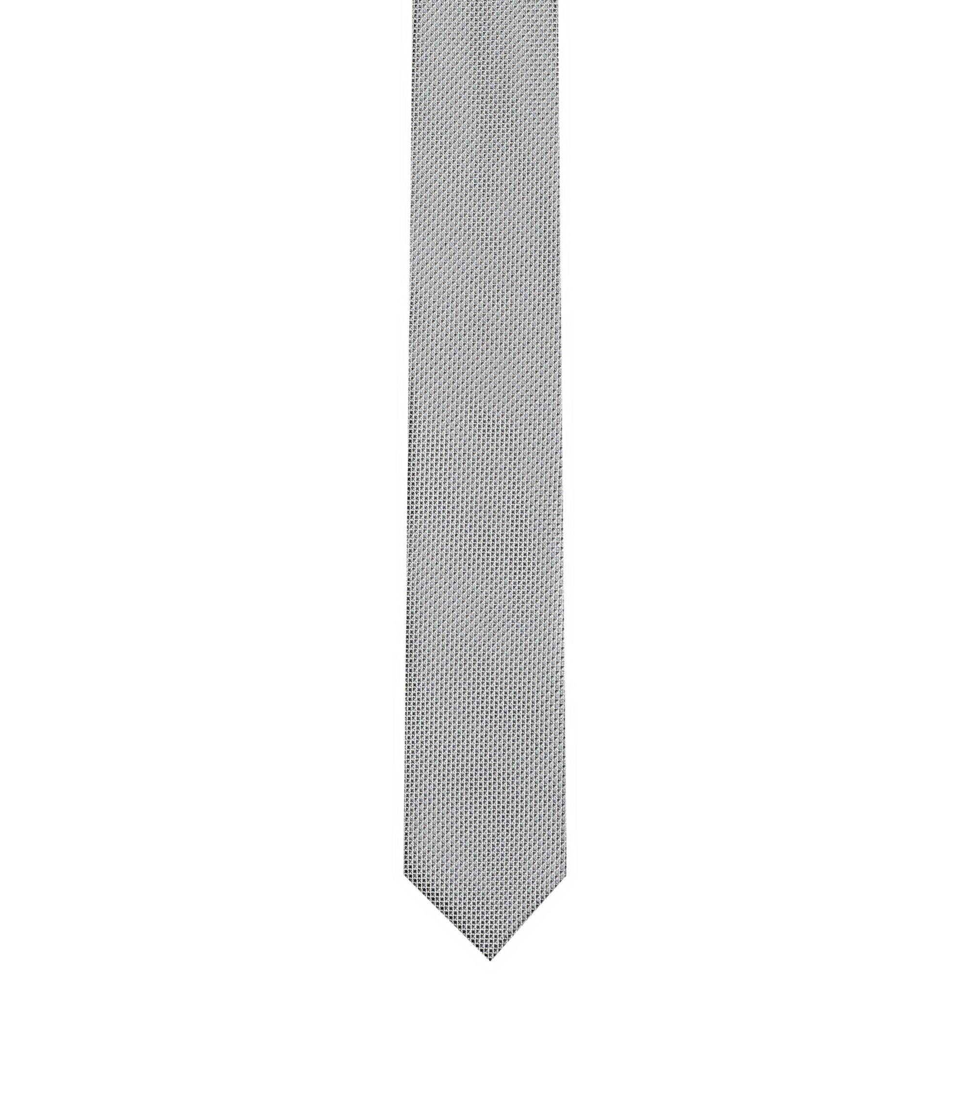 Gemusterte Krawatte aus Seiden-Jacquard, Grau