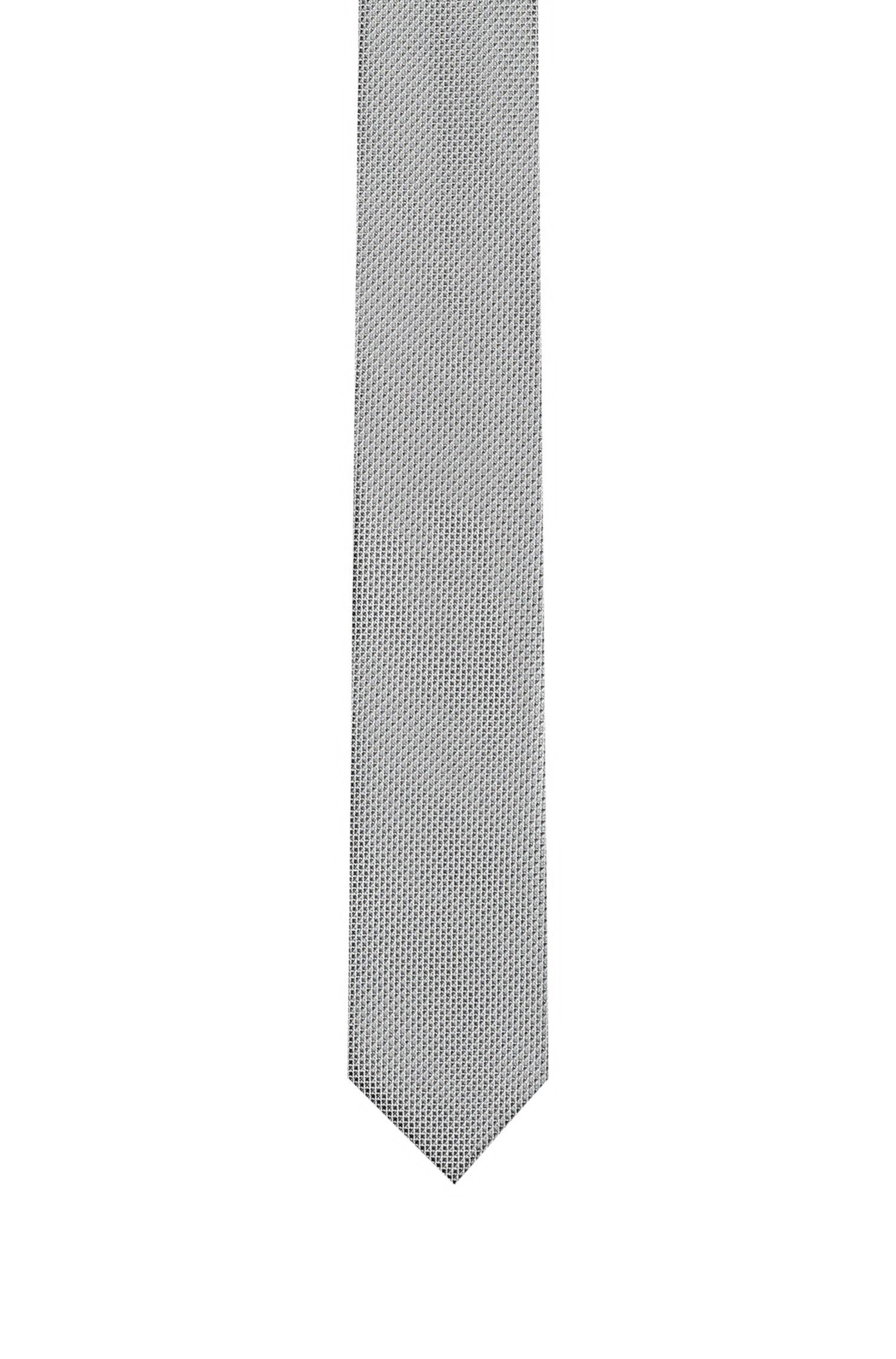 Cravatta in jacquard di seta con micromotivo