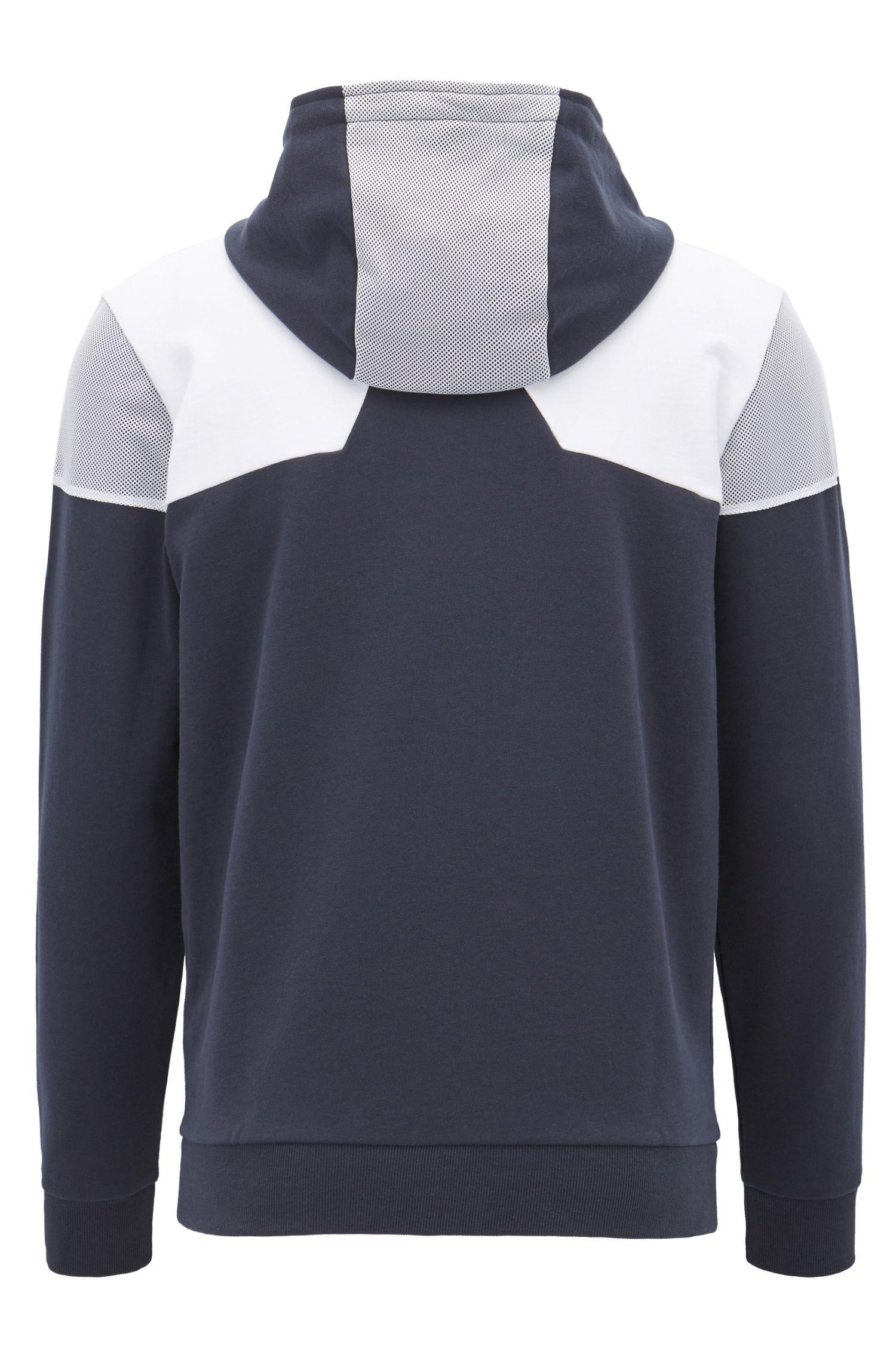Veste en coton color block à empiècements en mesh