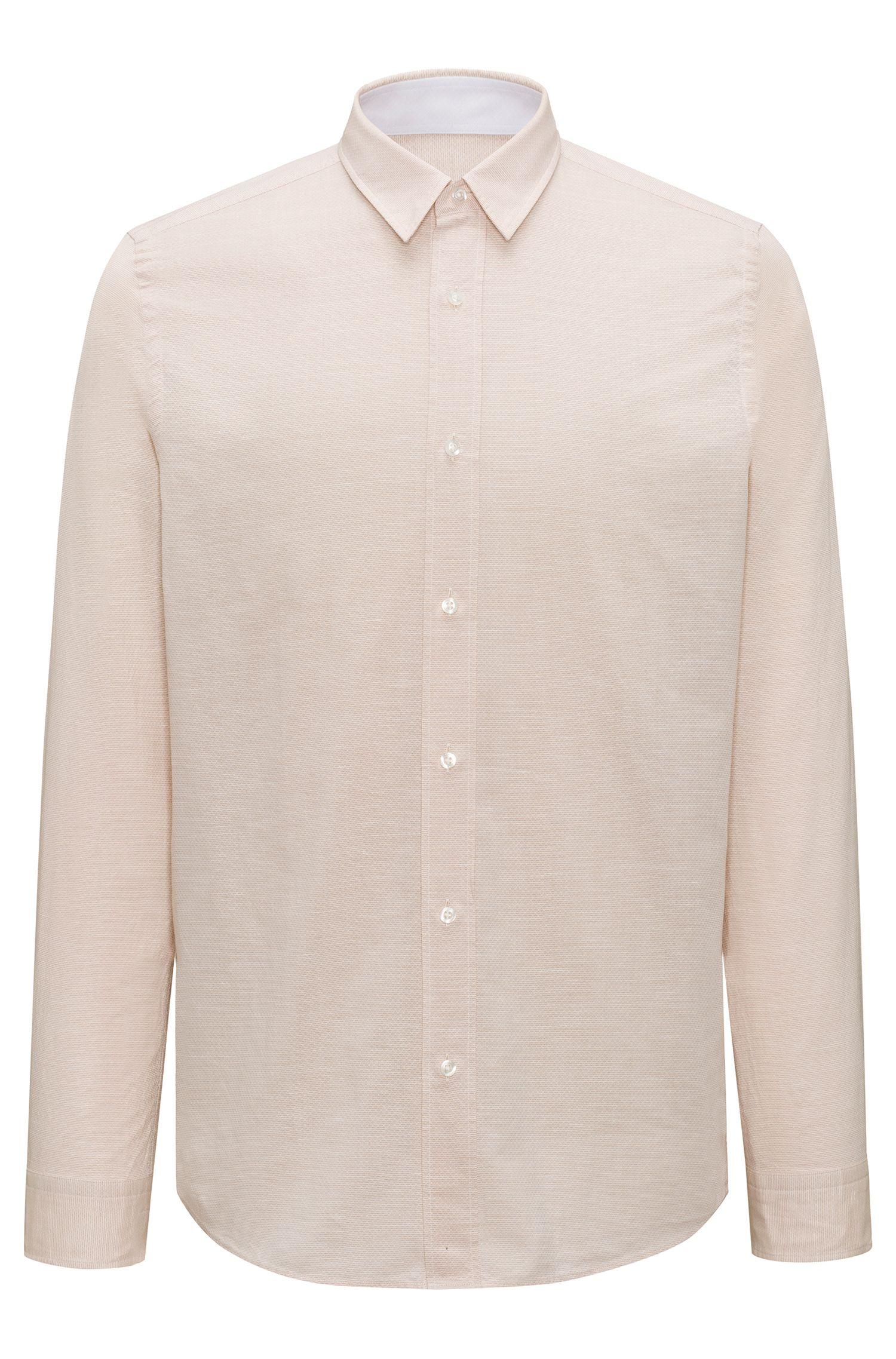 Relaxed-fit overhemd van een katoenmix
