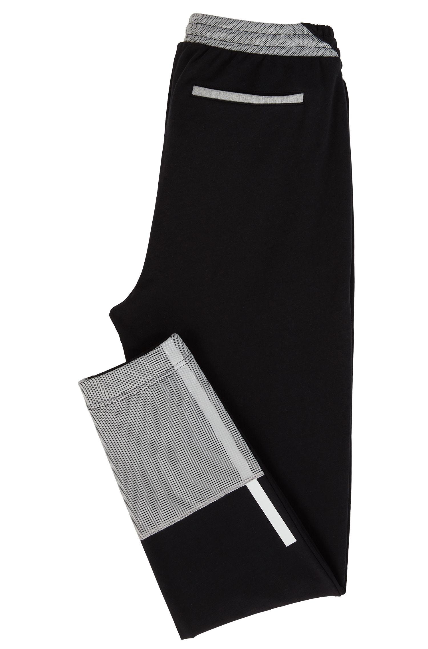Regular-Fit Jogginghose aus Baumwolle mit Mesh-Bahnen