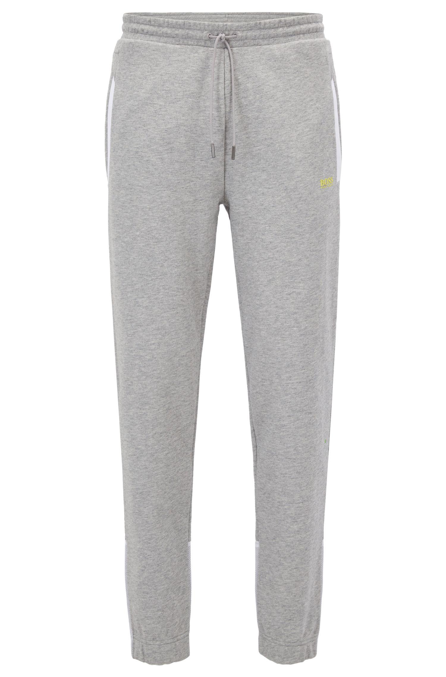 Pantalon de jogging en coton à empiècements en mesh
