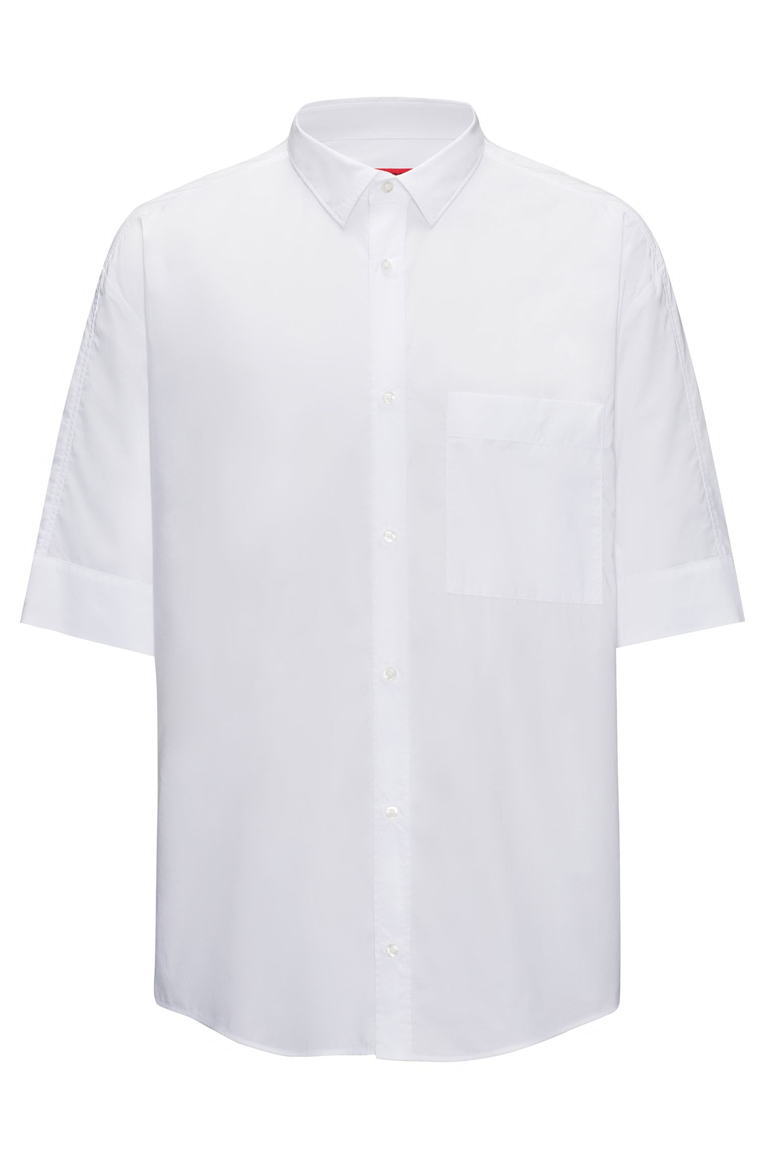 Relaxed-fit shirt in paper-touch cotton