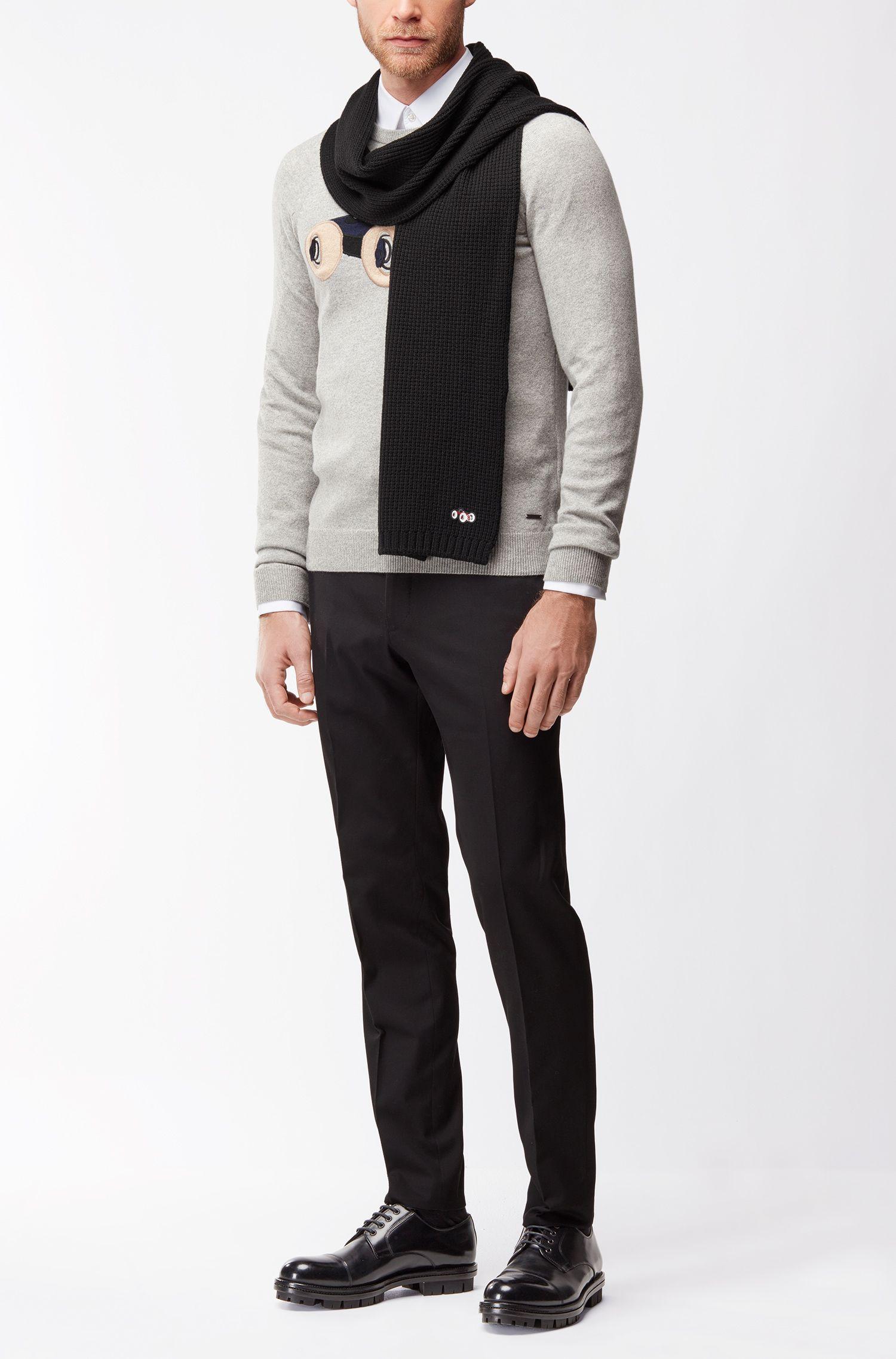 Écharpe en laine lourde à ornement voiture de course