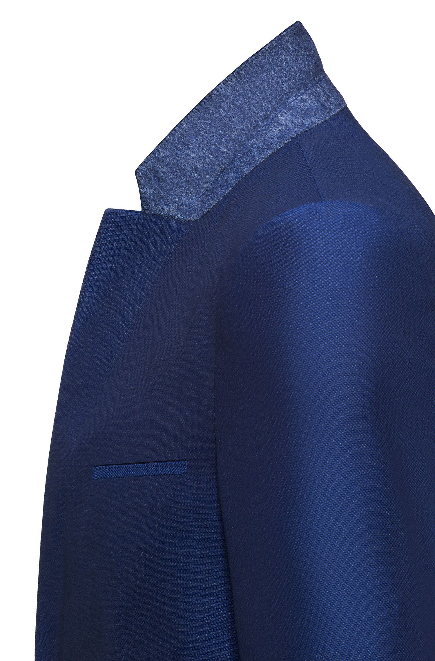 Extra-slim-fit suit in virgin wool with a touch of silk