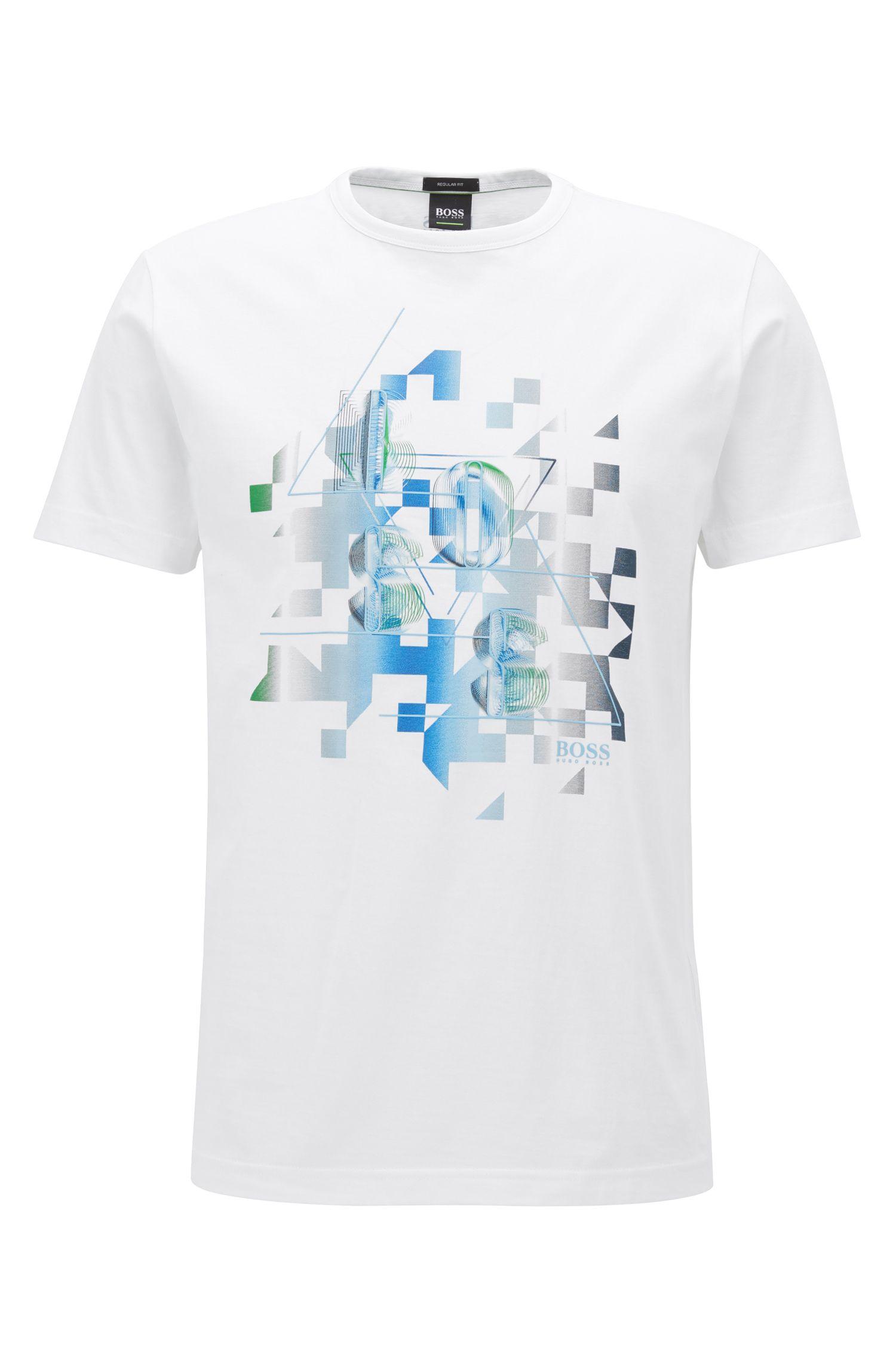 T-Shirt aus Baumwolle mit dynamischem Print