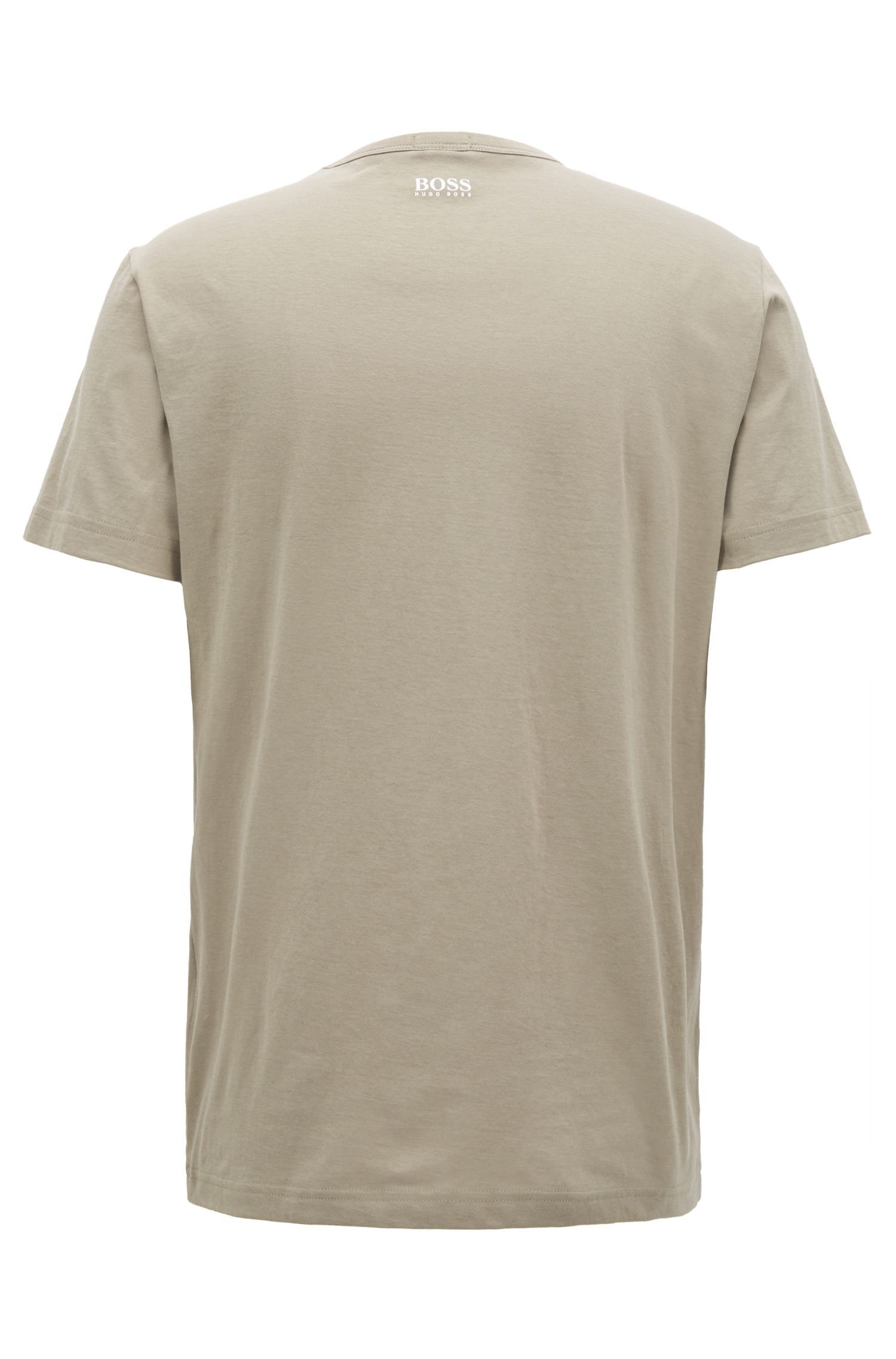 Katoenen T-shirt met dynamisch kunstdessin