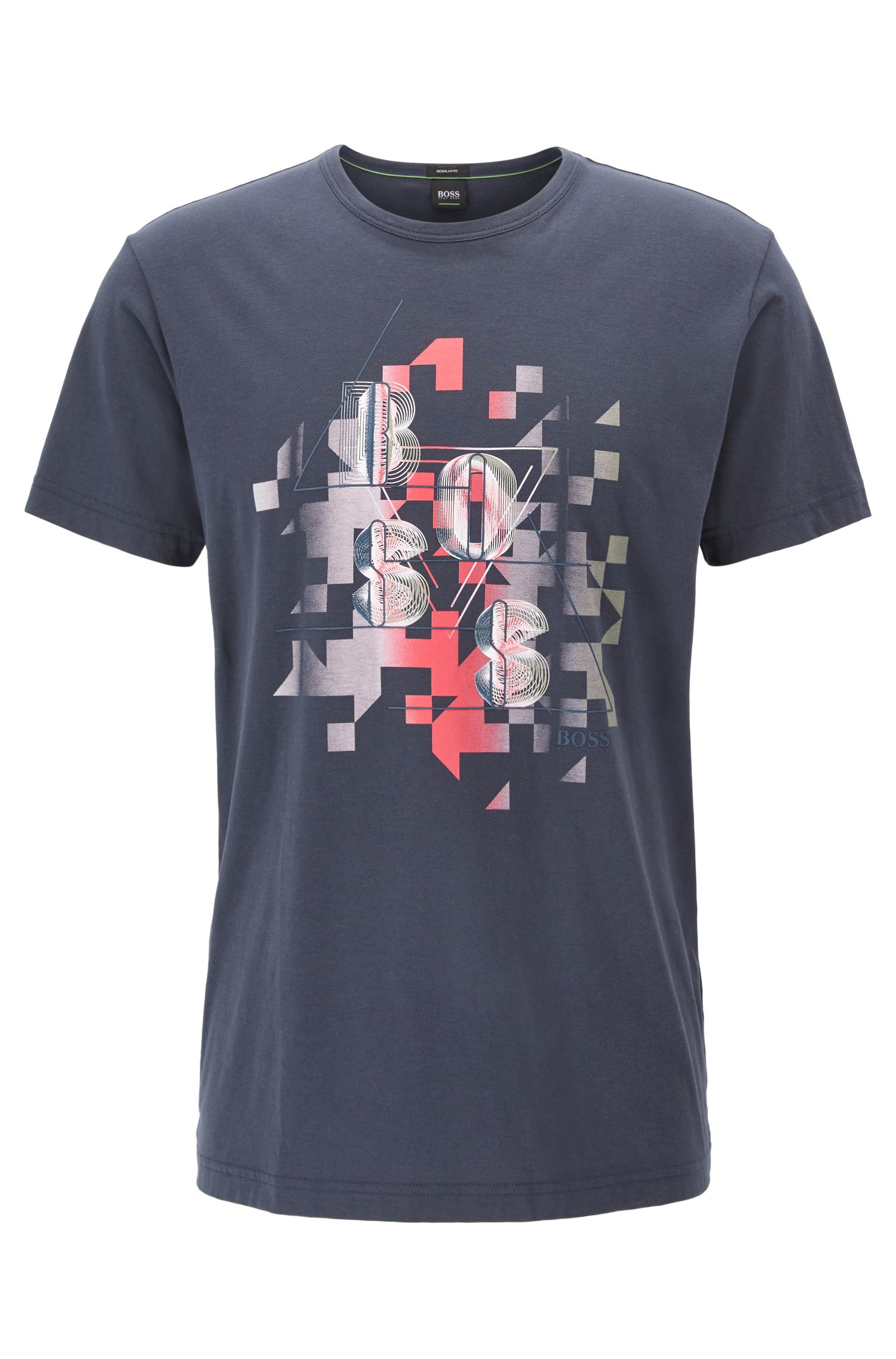 Cotton T-shirt with dynamic artwork