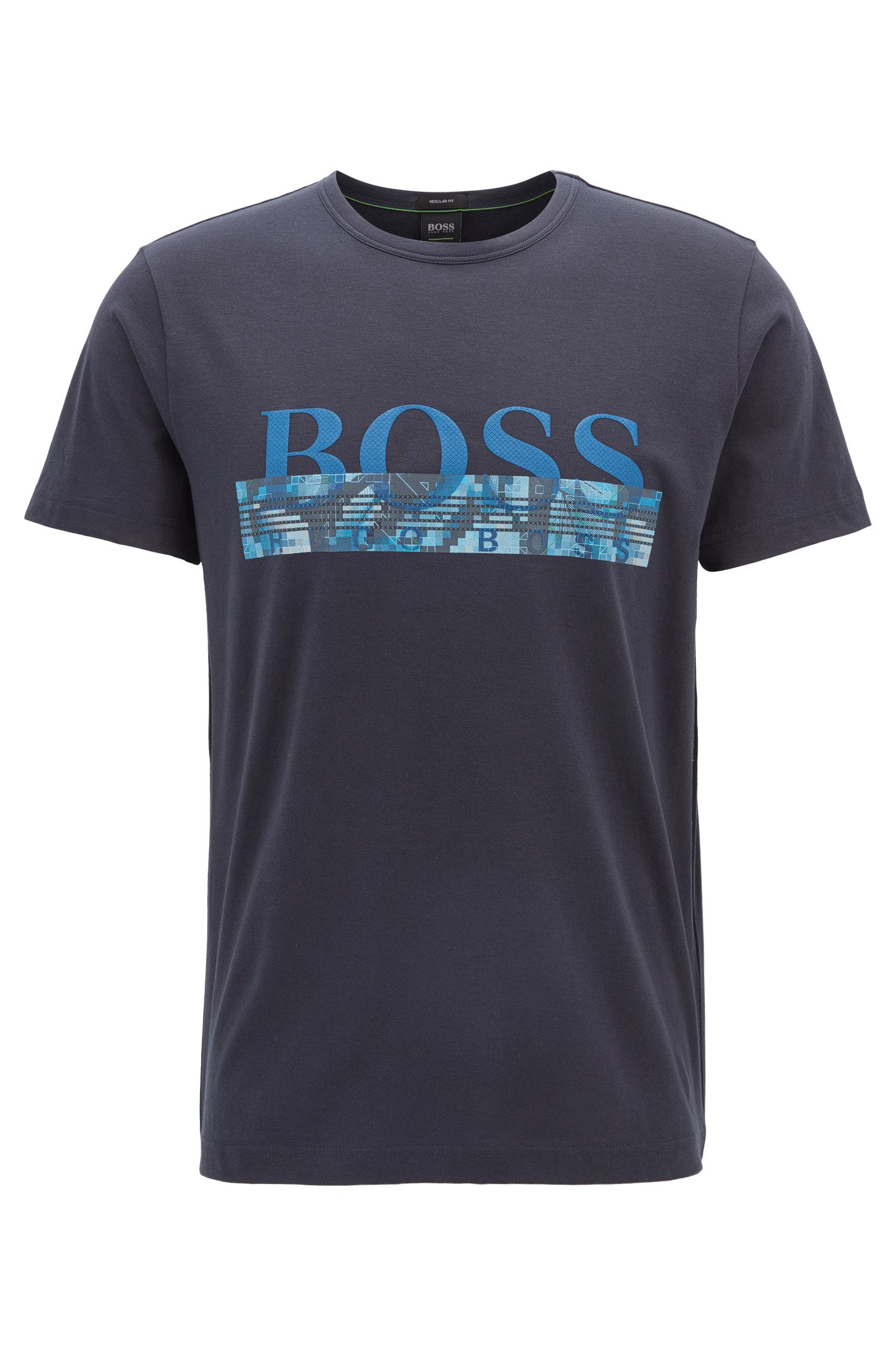 Cotton logo T-shirt with seasonal print