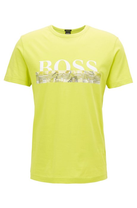 f4c2368ee BOSS - Cotton logo T-shirt with seasonal print