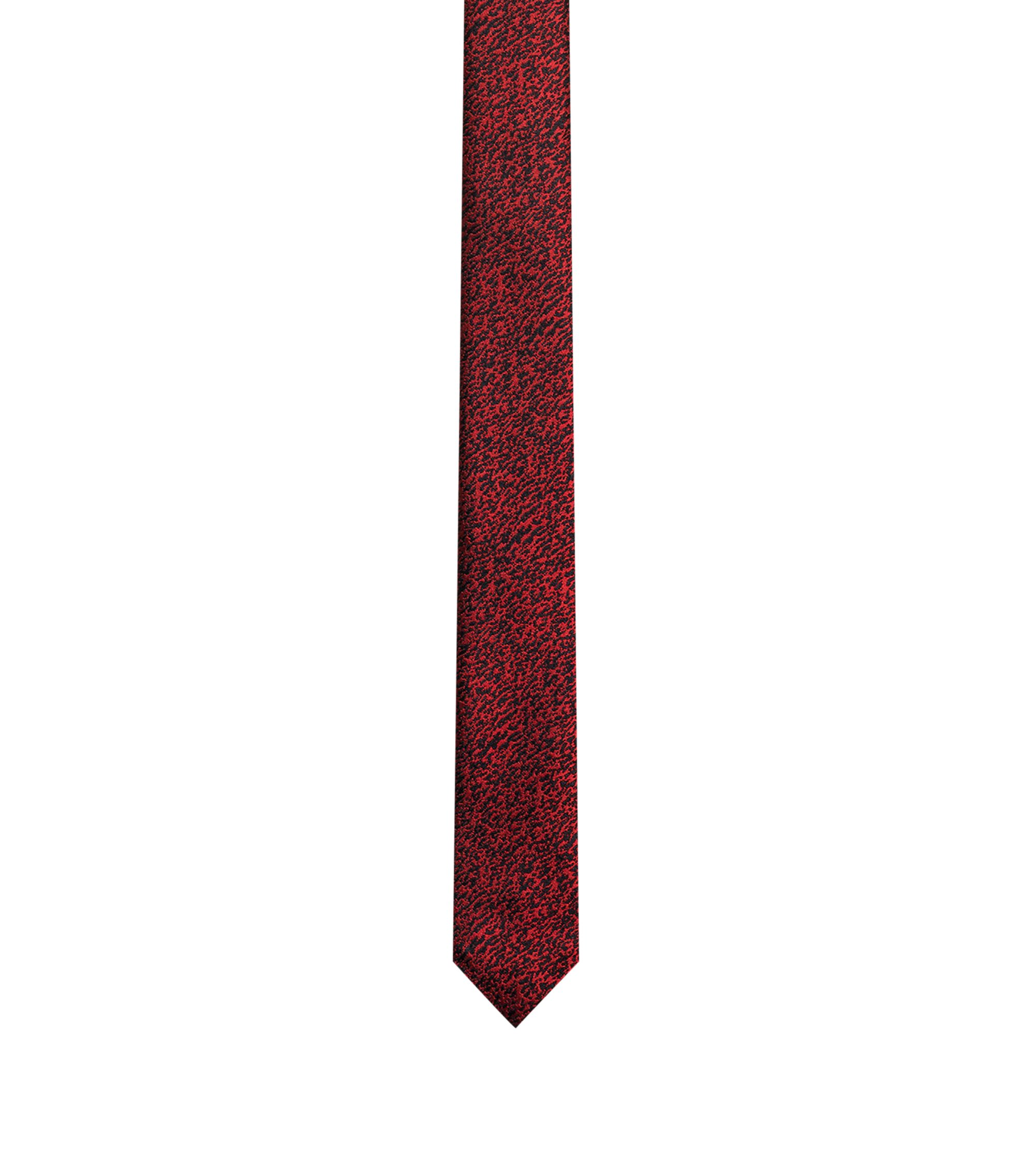 Patterned tie in silk jacquard, Red