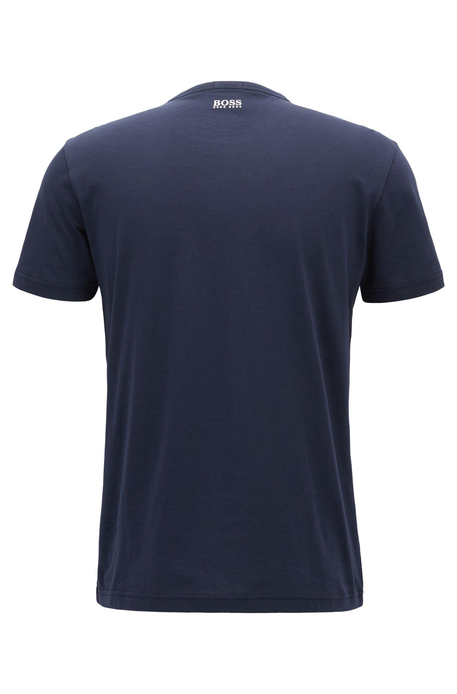 T-shirt in morbido cotone con logo 3D