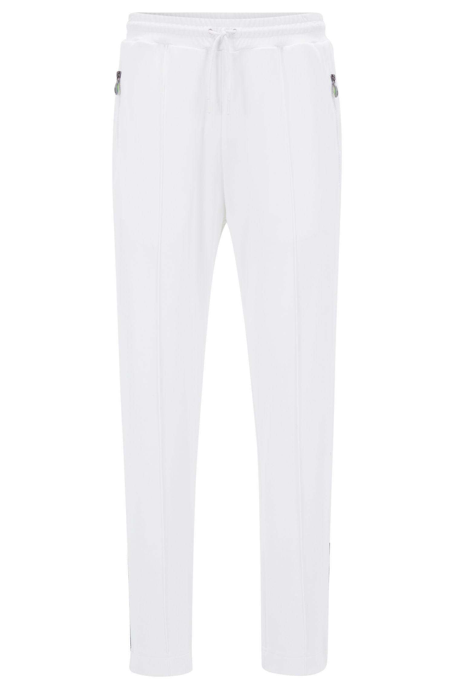 Pantalones de chándal de pernera recta en piqué interlock