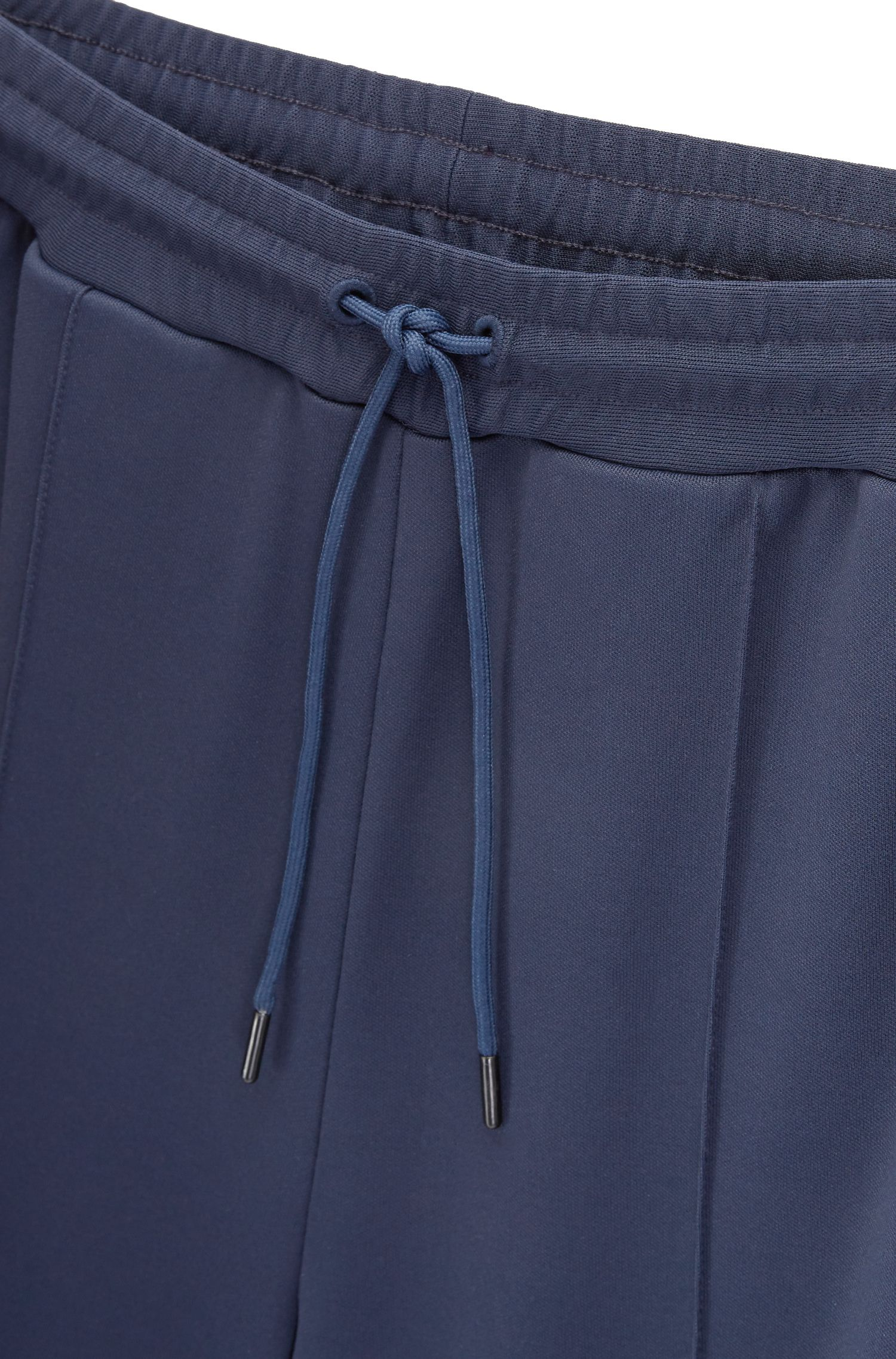 Straight-leg jogging bottoms in interlock piqué