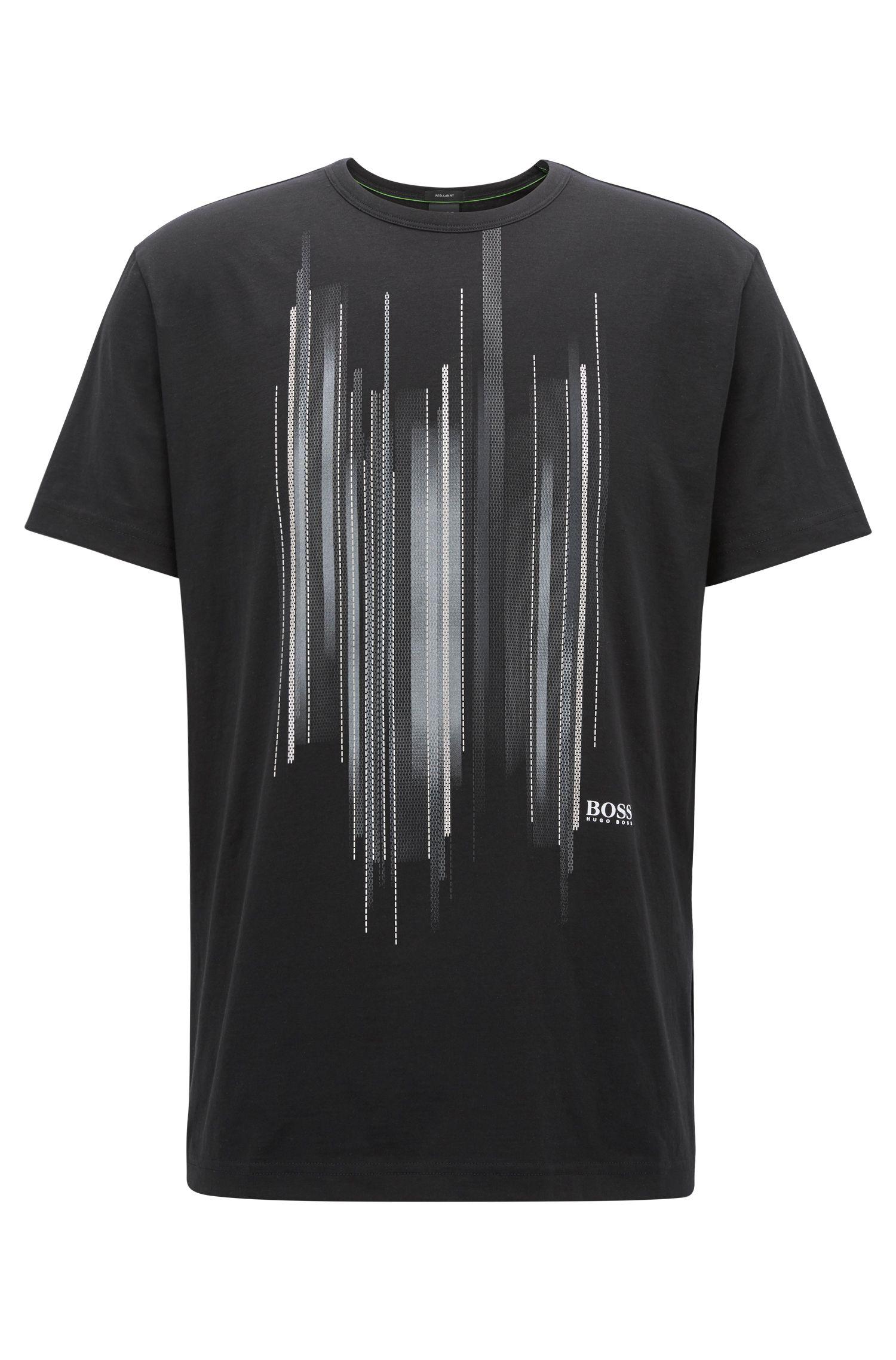 T-shirt van katoen met grafische print