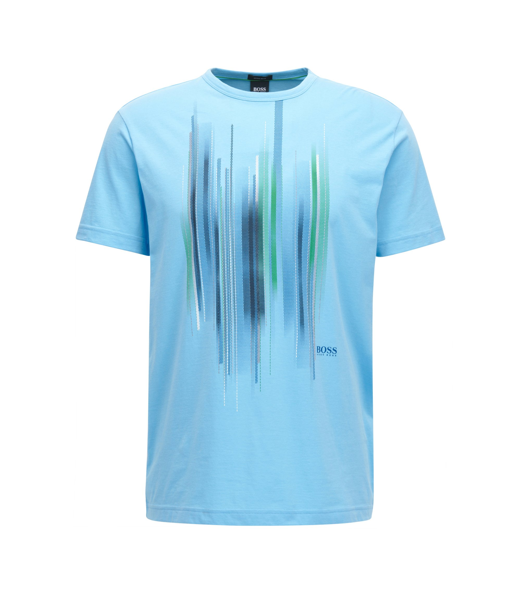 Cotton T-shirt with graphic print, Light Blue