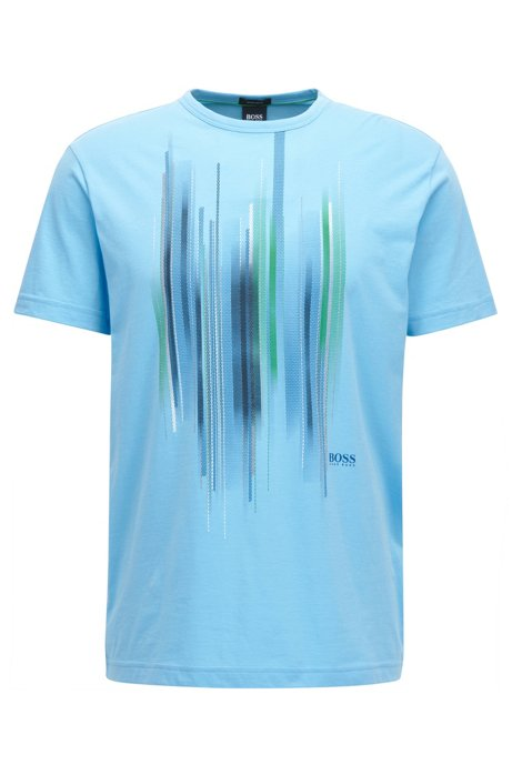 Boss cotton t shirt with graphic print for Shirts with graphics on the back