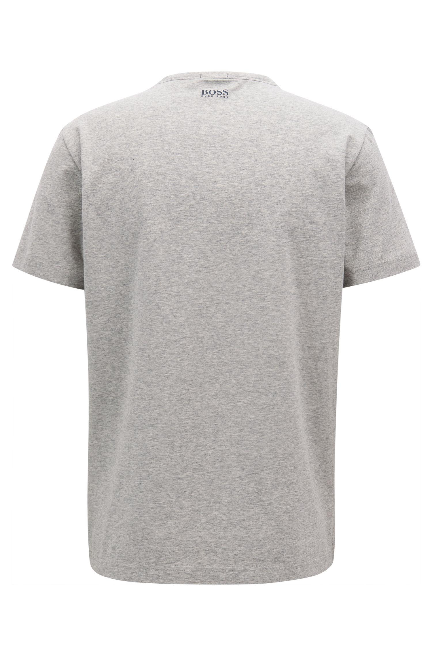 T-shirt en jersey de coton stretch à logo artistique