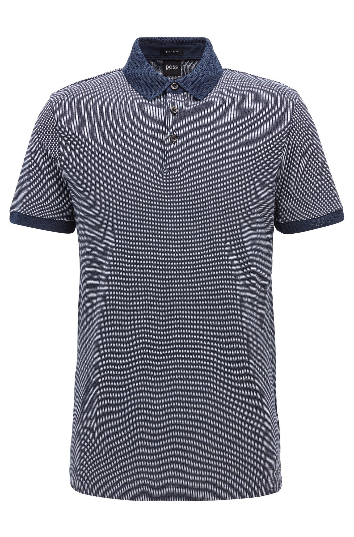 Poloshirt aus Baumwolle mit zweifarbigem Muster