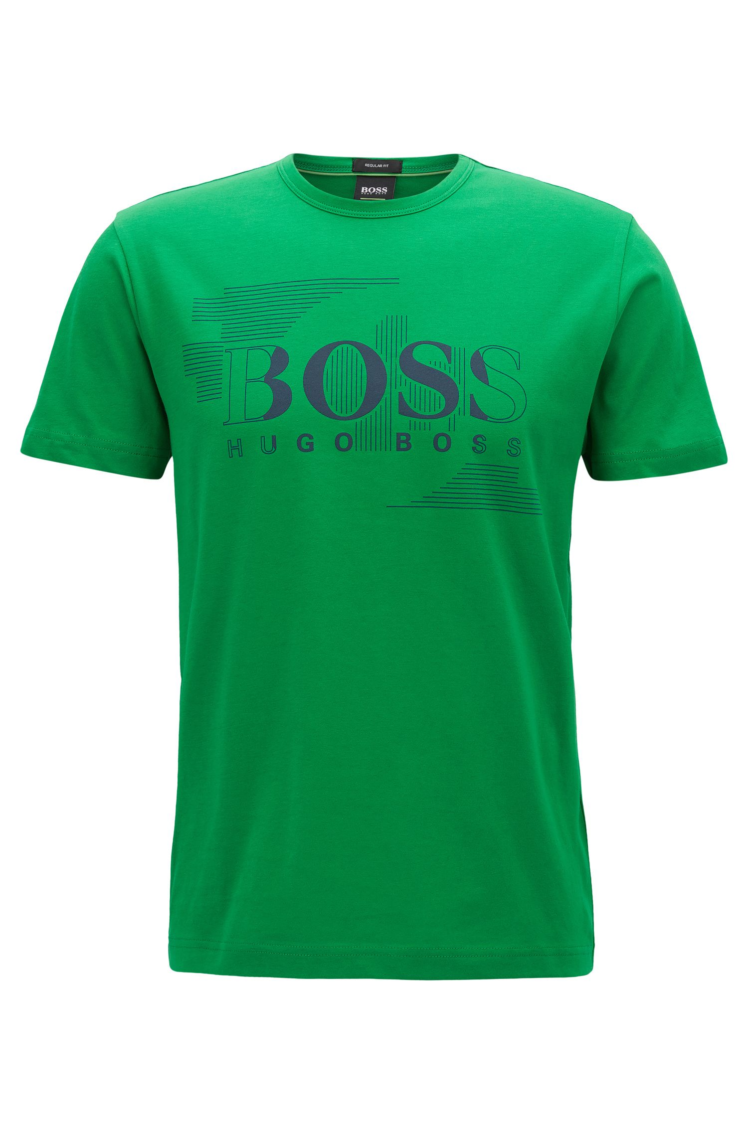 T-shirt a girocollo in jersey di cotone