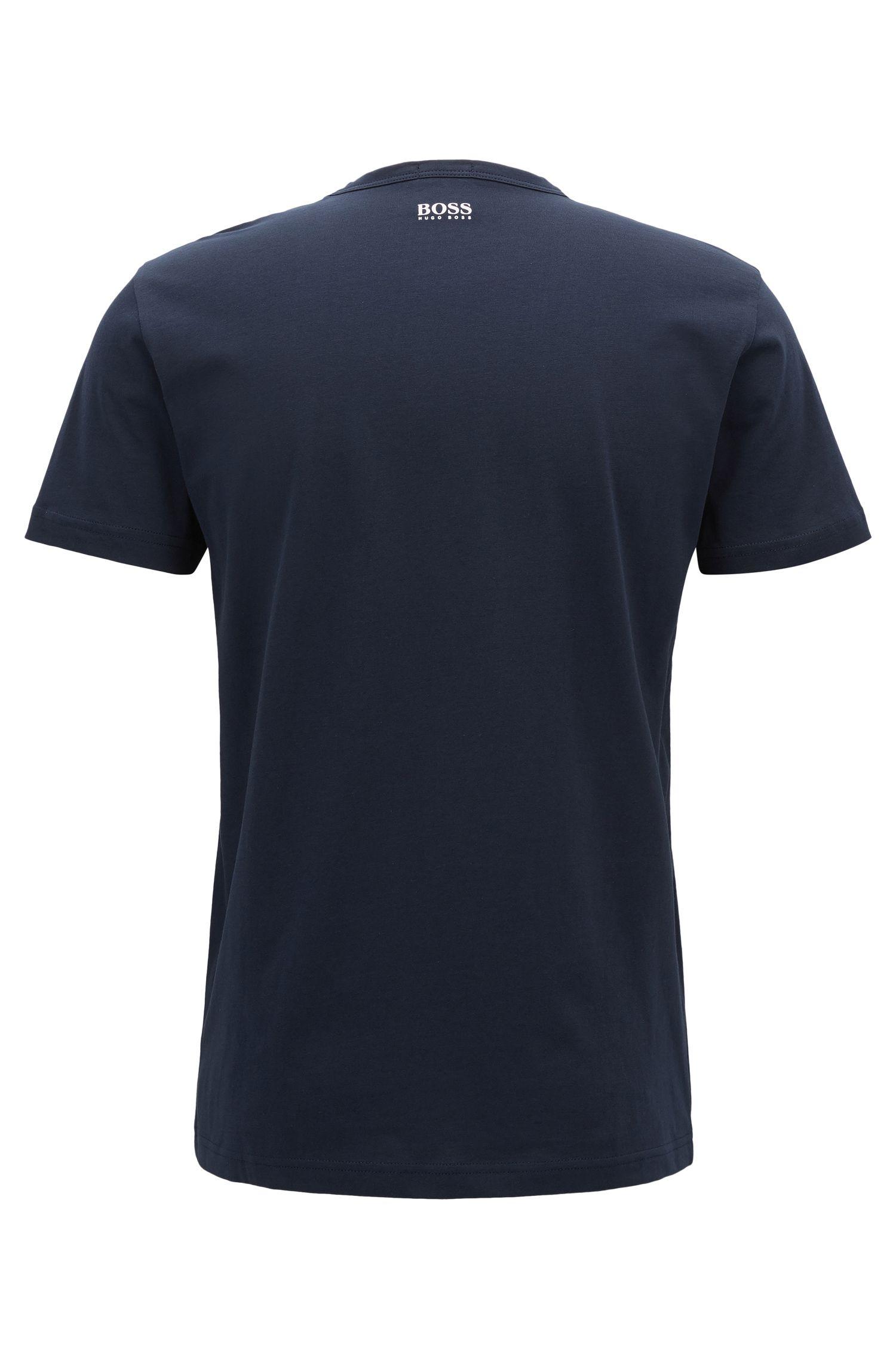 T-shirt à col ras-du-cou en jersey simple de coton