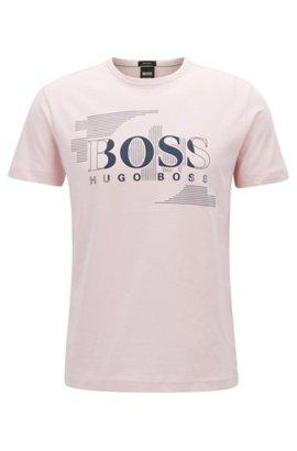 T-shirt à logo en jersey de coton simple39.95HUGO BOSS Jeu Nouveau 2018 Vente Boutique Pas Cher 2018 Unisexe Prix Pas Cher KGAQRzjtU