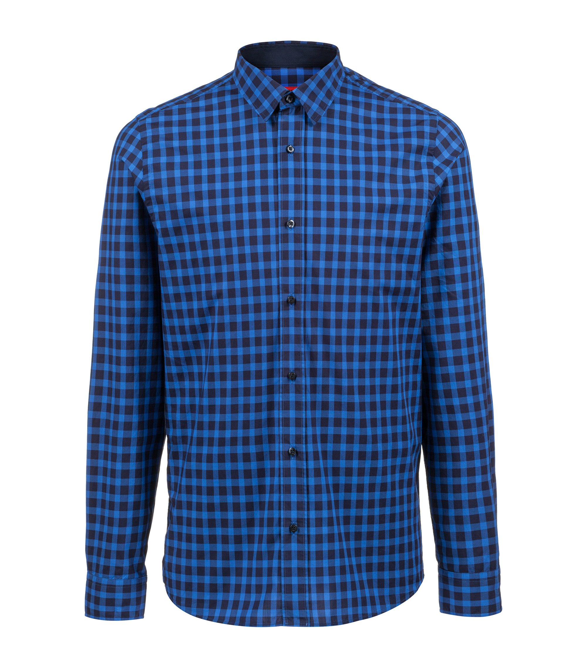 Cotton shirt in a Vichy check, Blue